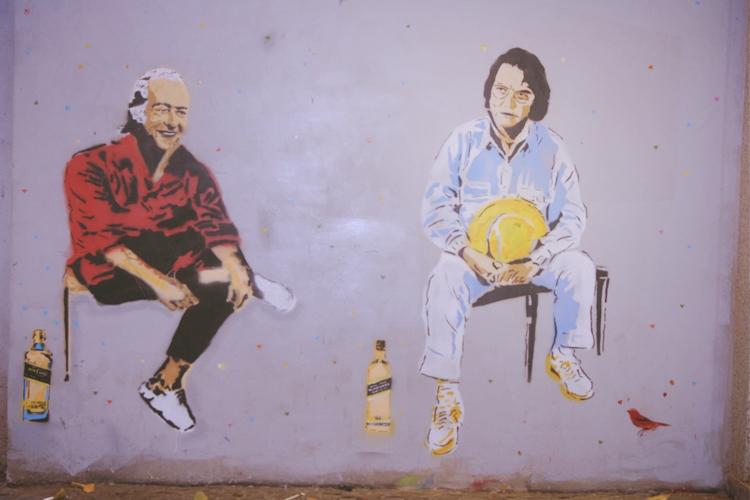 Street art in Ipanema.