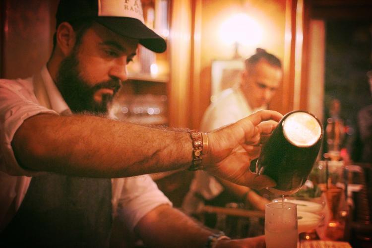 Tato Giovannoni, master bar man and commander.