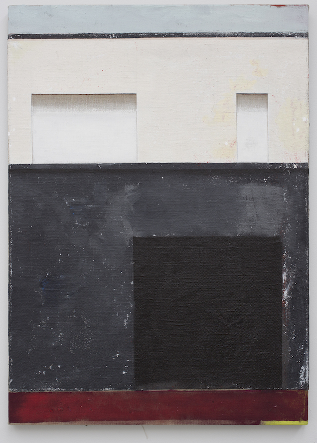 No.23 lower gerald griffin street as a viewer.  Acrylic on Linen, 71x55cm, 2015.