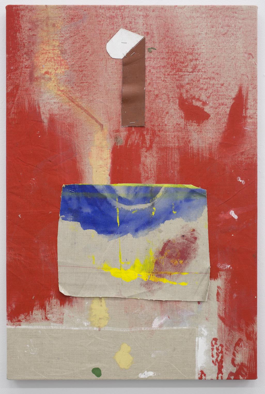Untitled.  Acrylic on linen, 50 x 76 cm, 2015