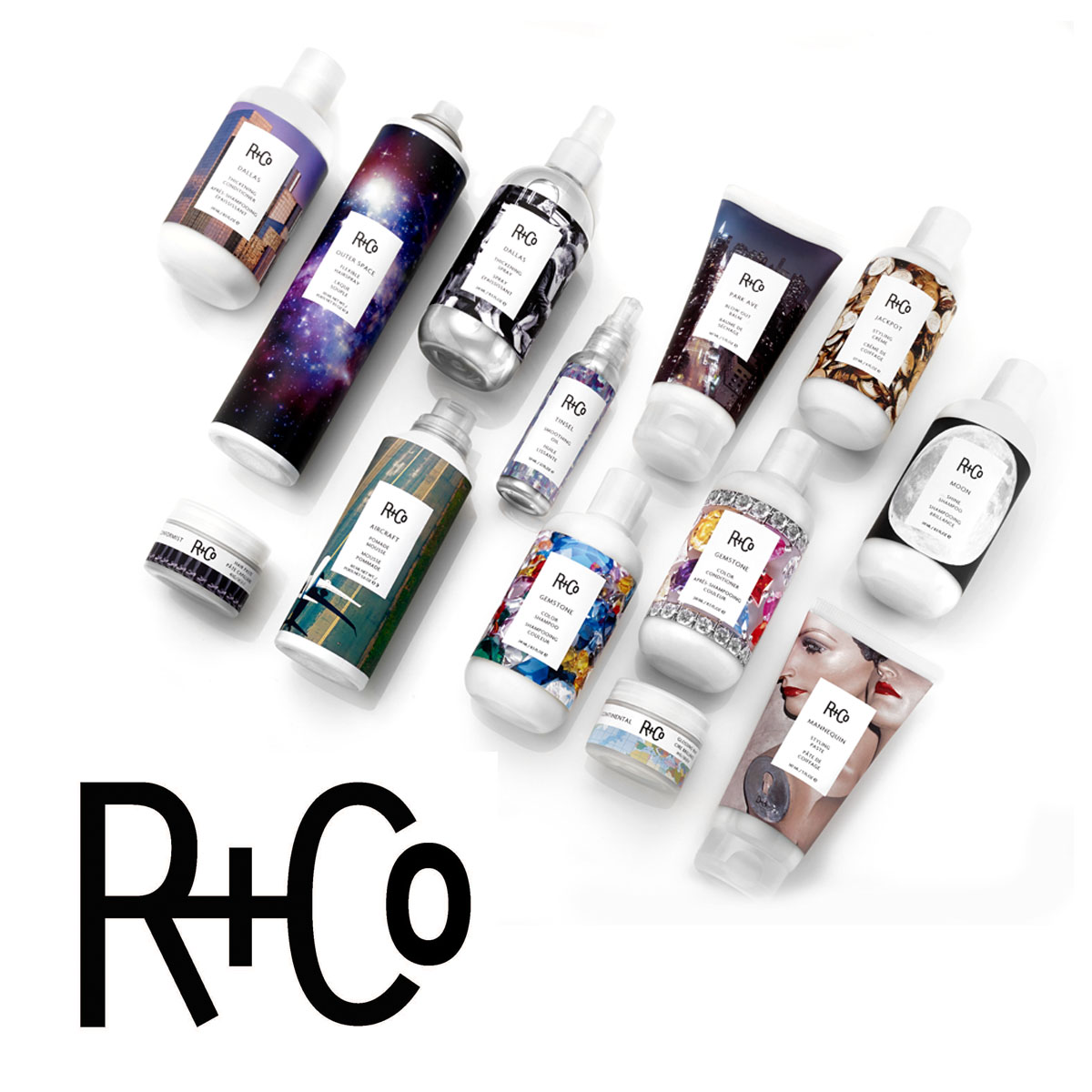 R+Co is about an experience.    R+Co  is a collective of some of the most forward-thinking, rule-bending hairstylists in the business. We are a think tank of top editorial and salon stylists and educators—with a combined century of hairdressing knowledge and experience—and we make sure that we have more than one viewpoint on everything we do.    And everything is formulated without parabens, sulfates (SLS or SLES), mineral oil and petrolatum. They are all vegetarian, cruelty-free, gluten-free and color-safe.  R+Co is about an experience. The packaging and fragrances were designed to enhance that experience and evoke a feeling, place, style or attitude. You'll know just by looking at a bottle or tube what a product is meant to do, and the subtle yet sophisticated fragrances—meant for both men and women—are as individual as the members of our collective.