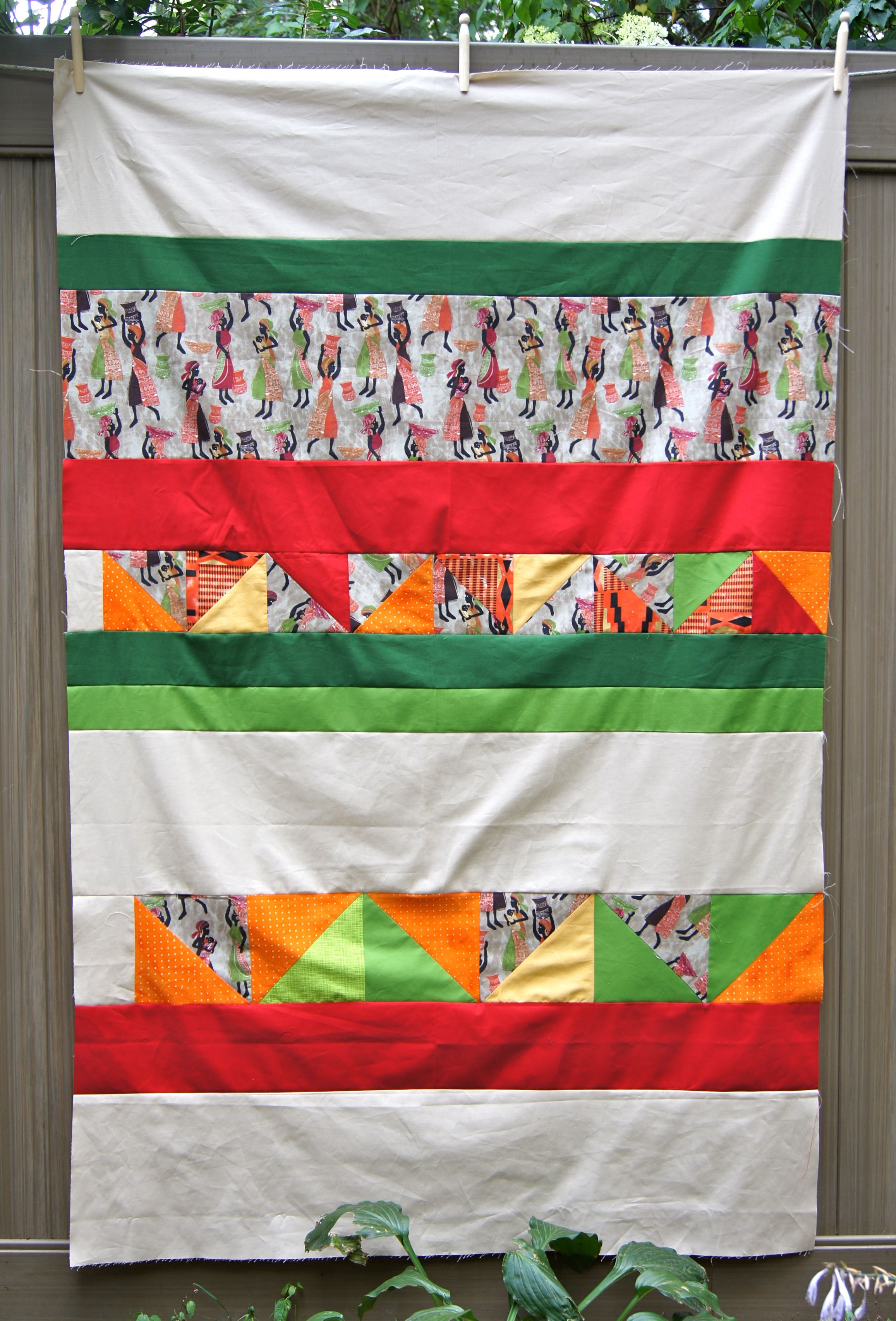 Back of the African Village quilt