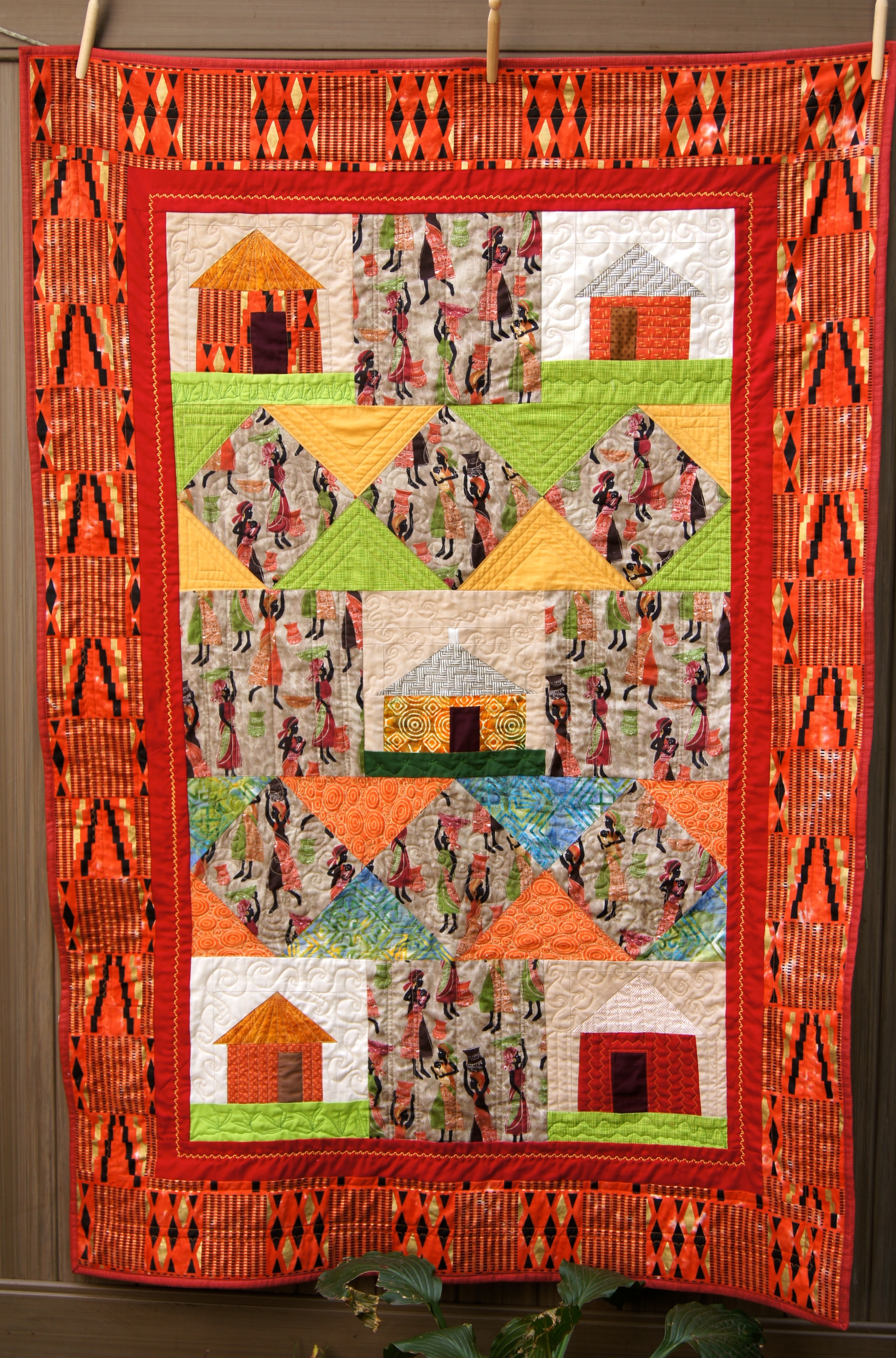 African Village Quilt