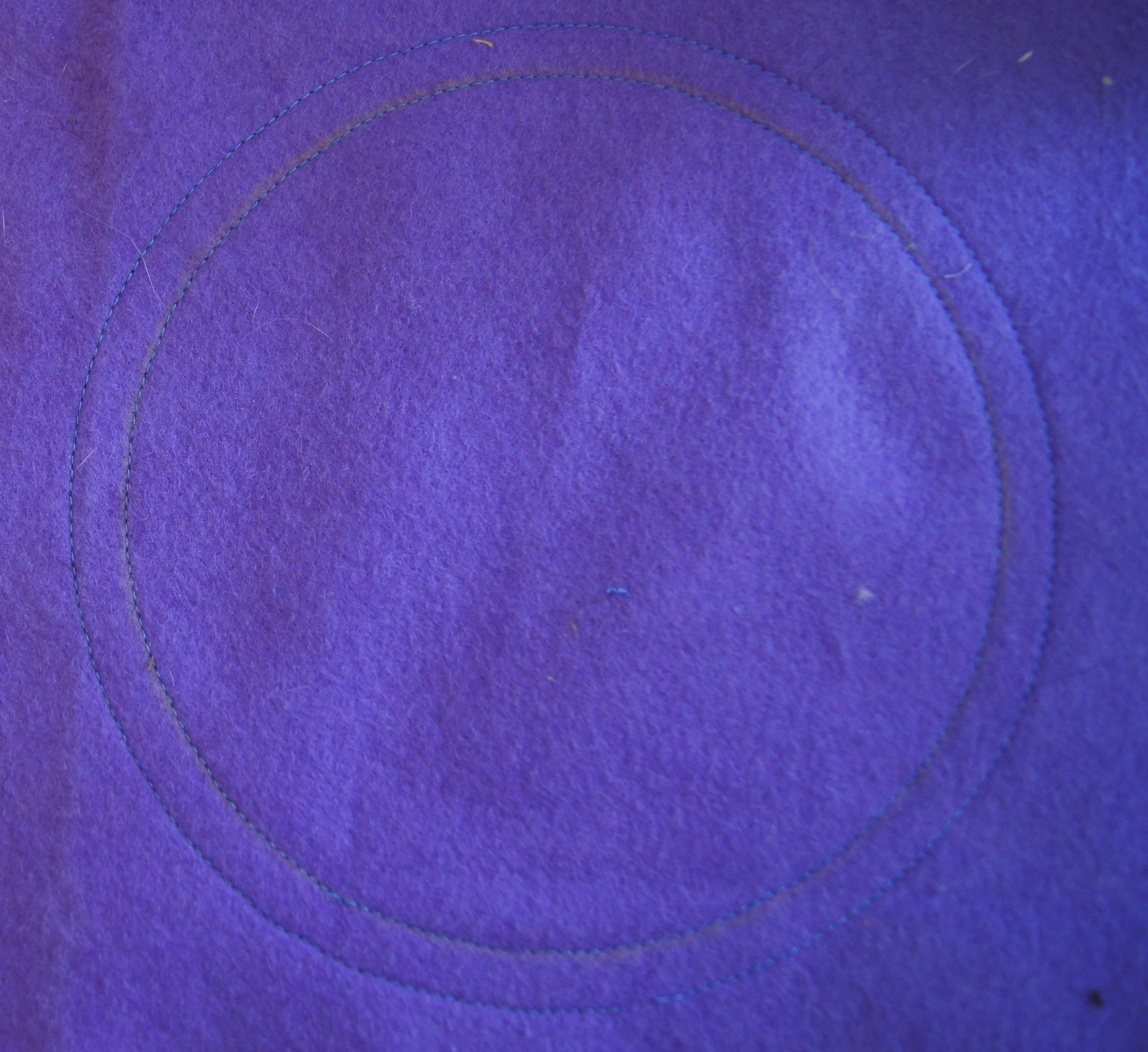 Test quilting with sandwich of 2 pieces of felt