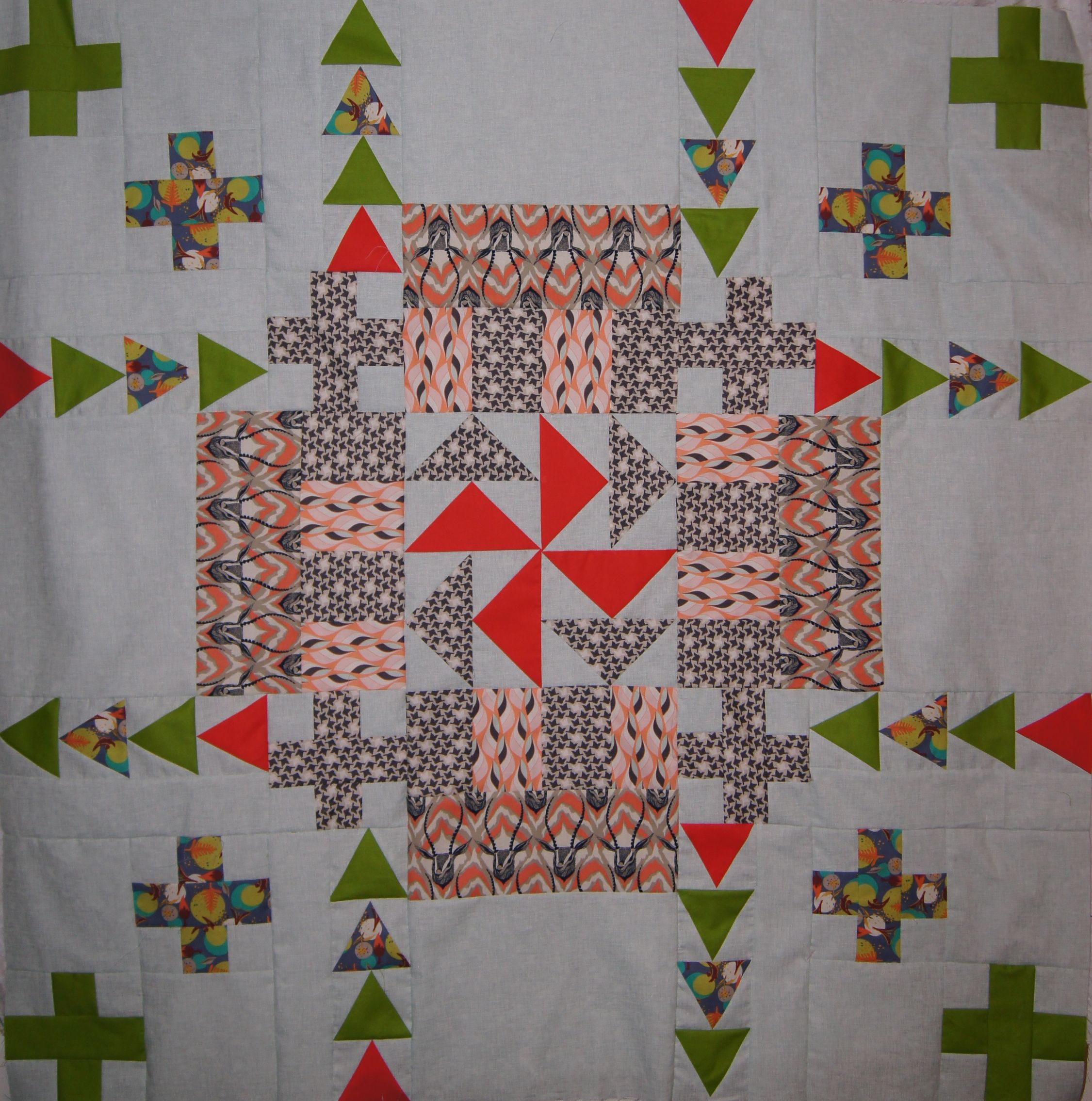 Medallion quilt with Gazelle Version 2