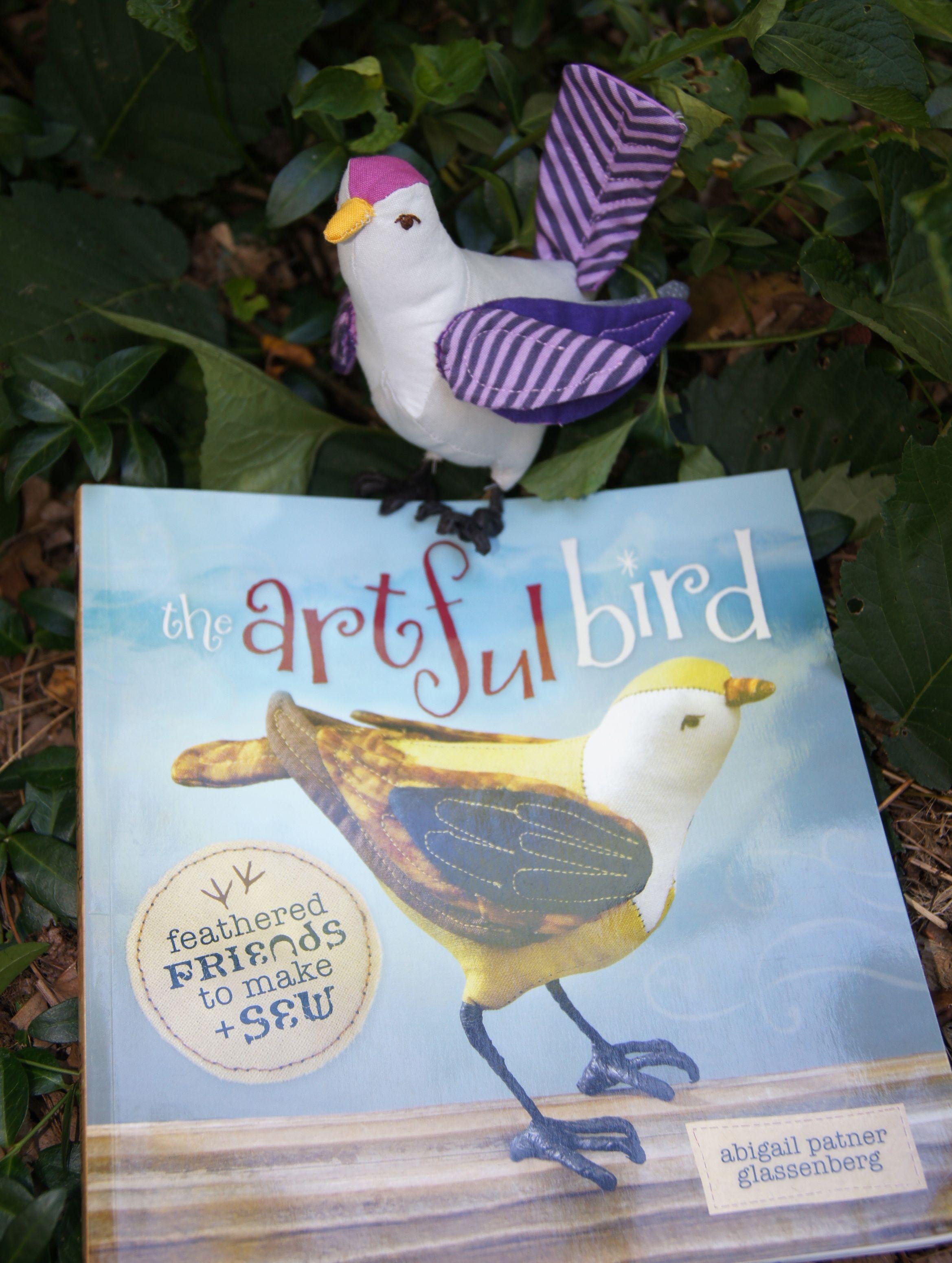 Bird Purple Sparrow on the book.jpg