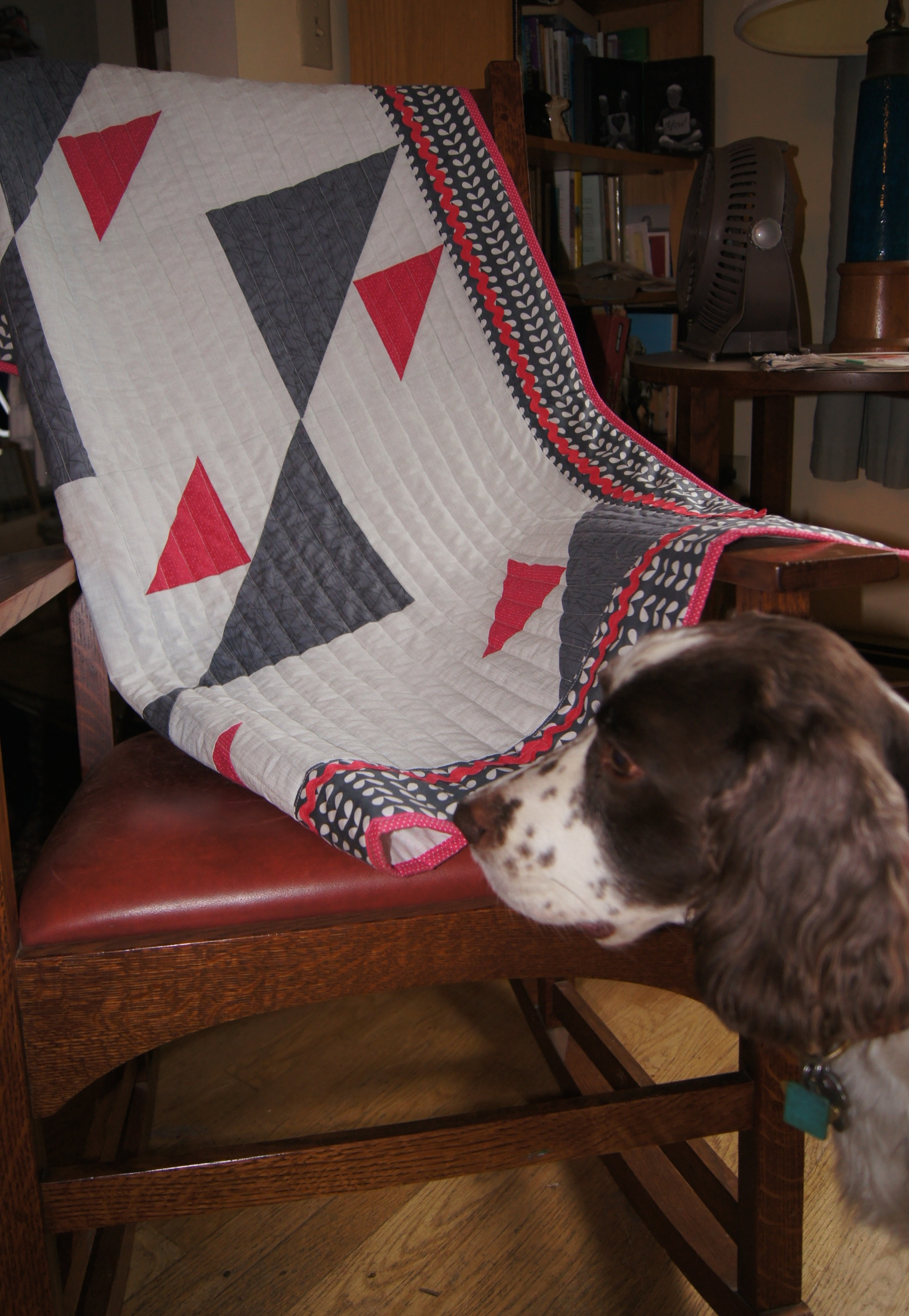Quilt Flying Birds Baby Quilt with Tipper.jpg