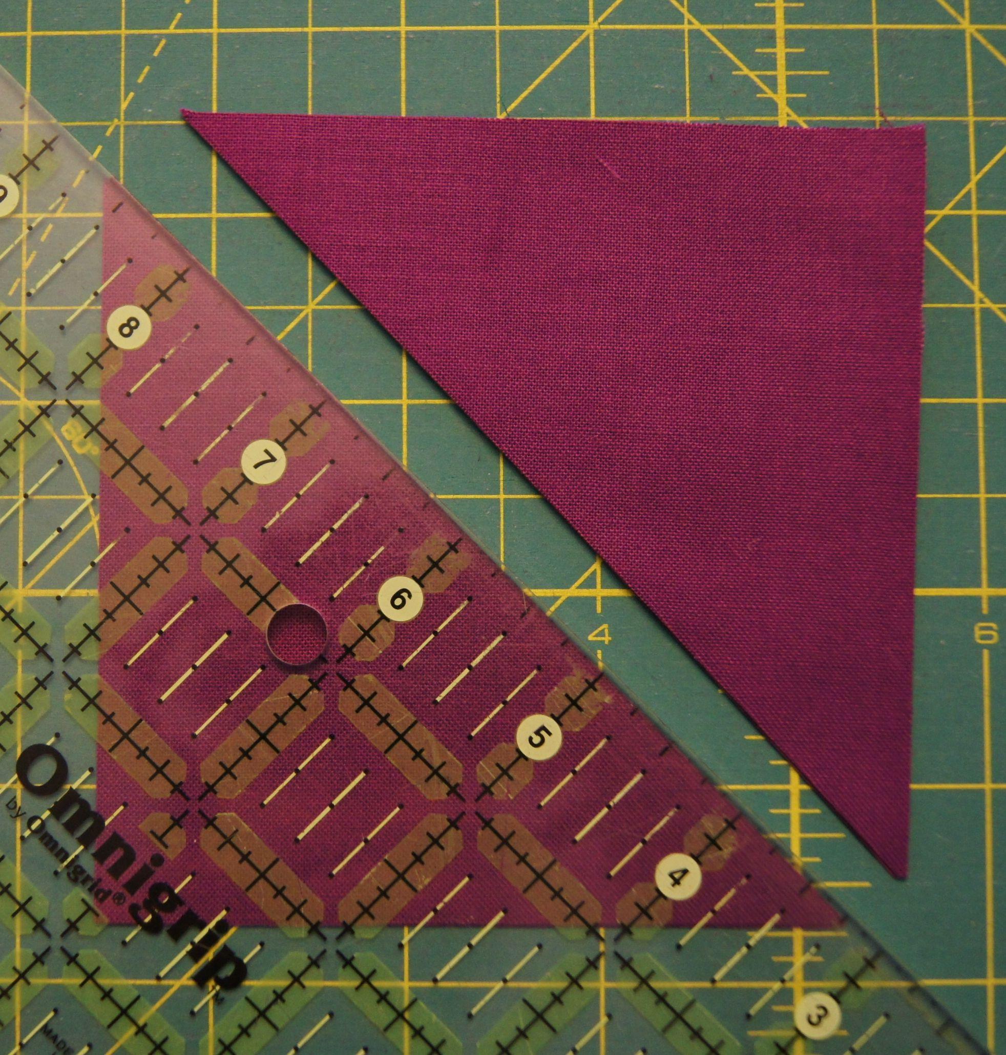 Cutting a Quarter Square Triangles