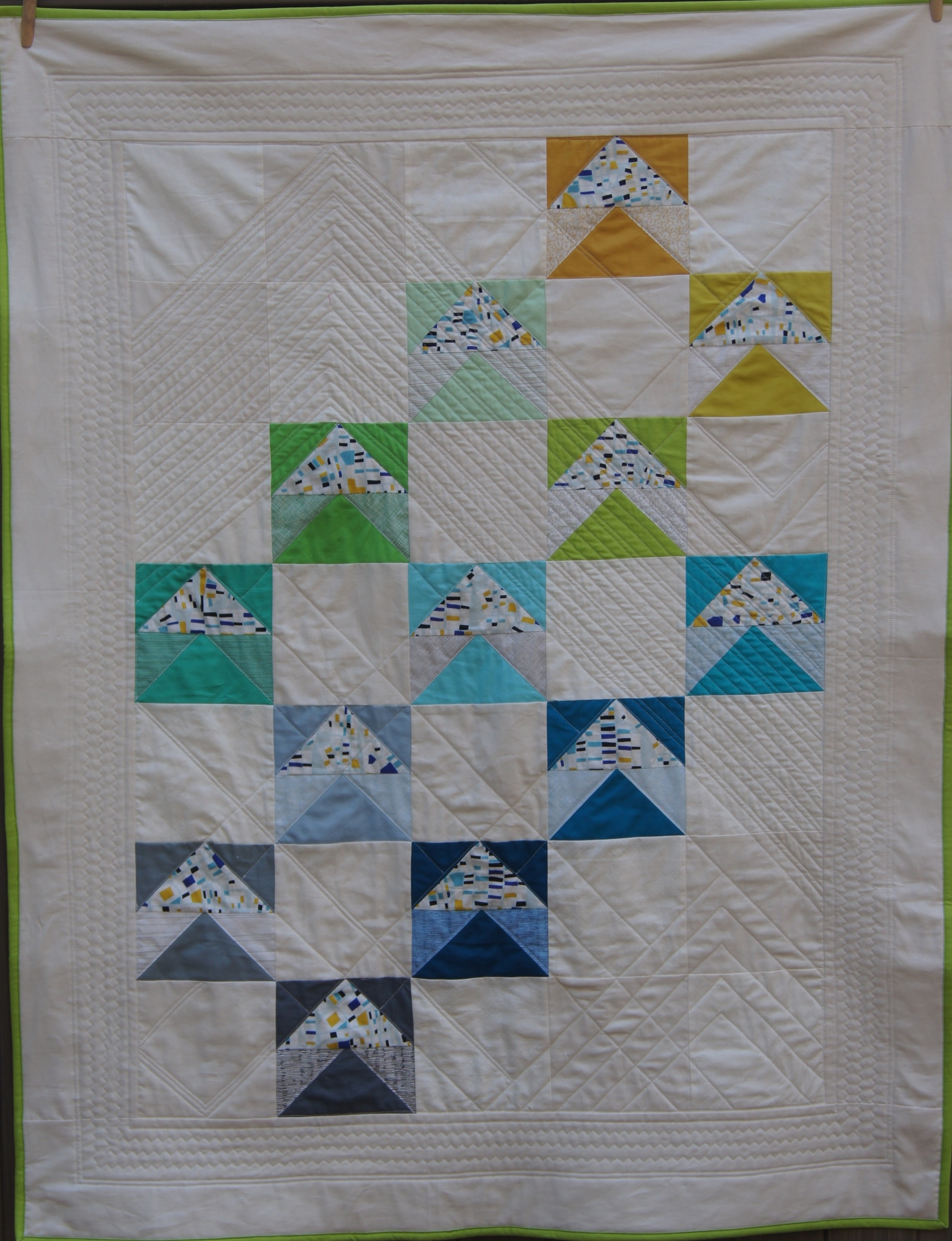 Quilt Modern Flying Geese Fox and Geese Quilt.jpg