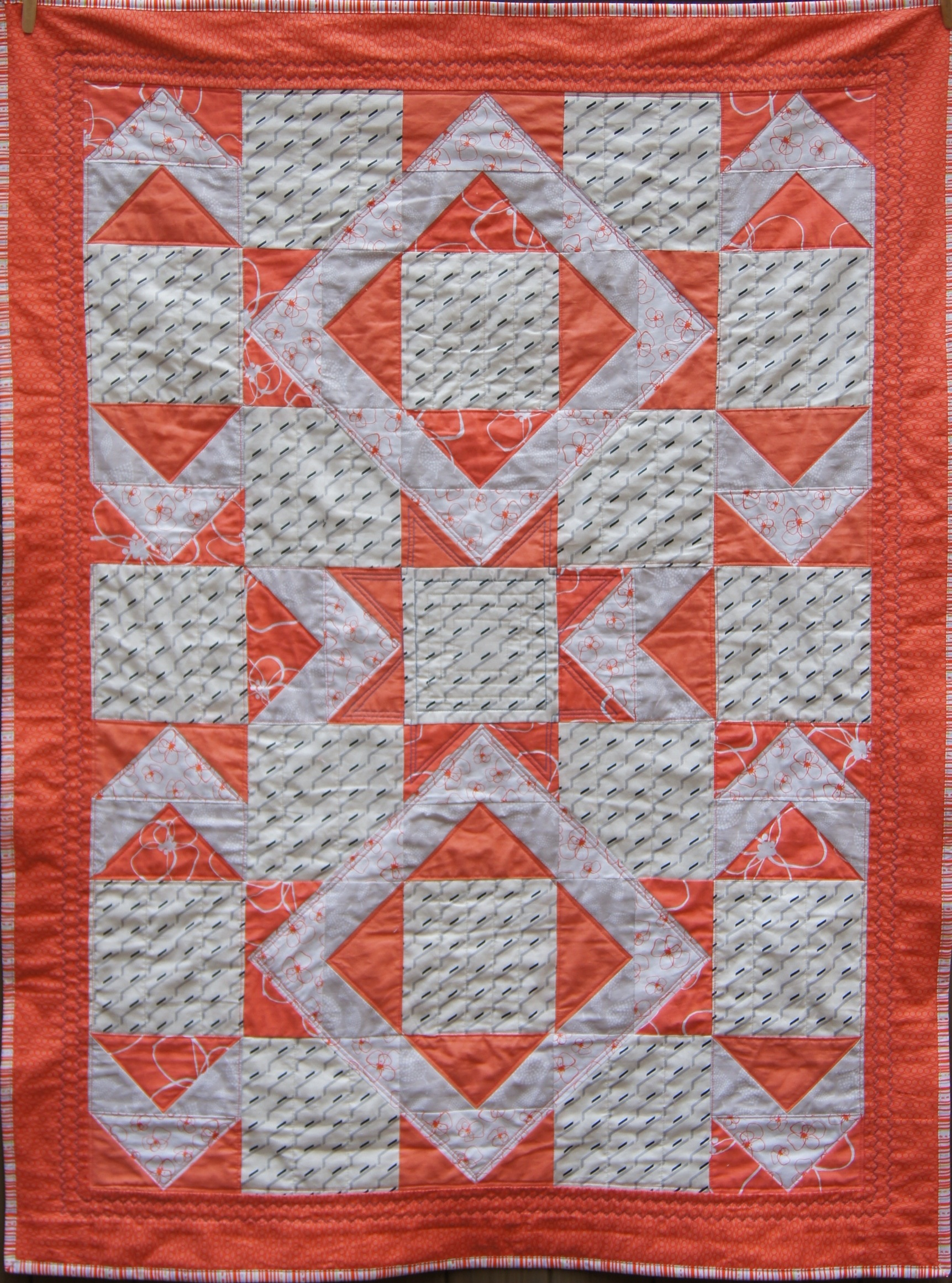 Quilt Modern Flying Geese Double Square, Single Star.jpg