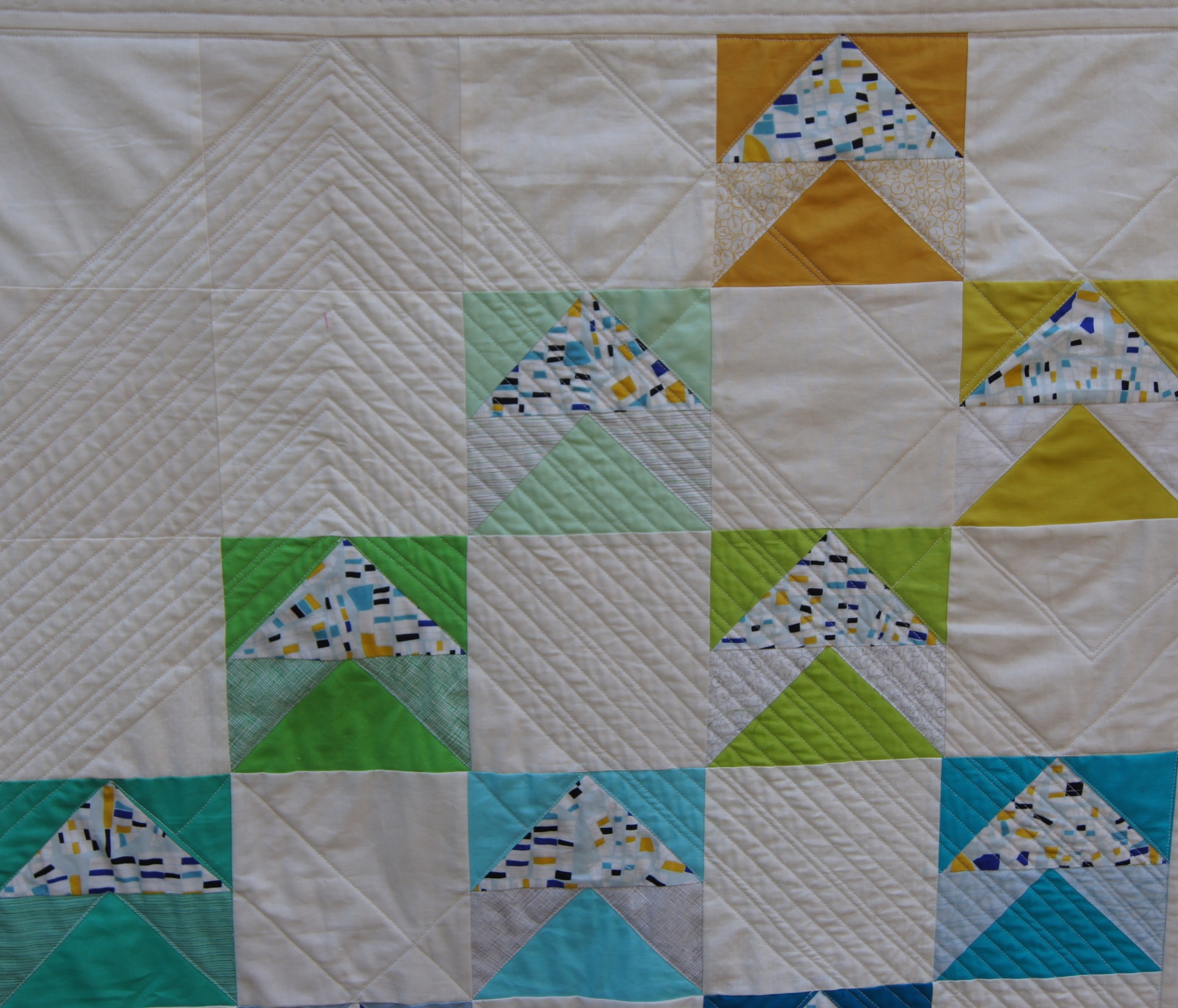 Quilt Modern Flying Geese Fox and Geese Detail 2 .jpg