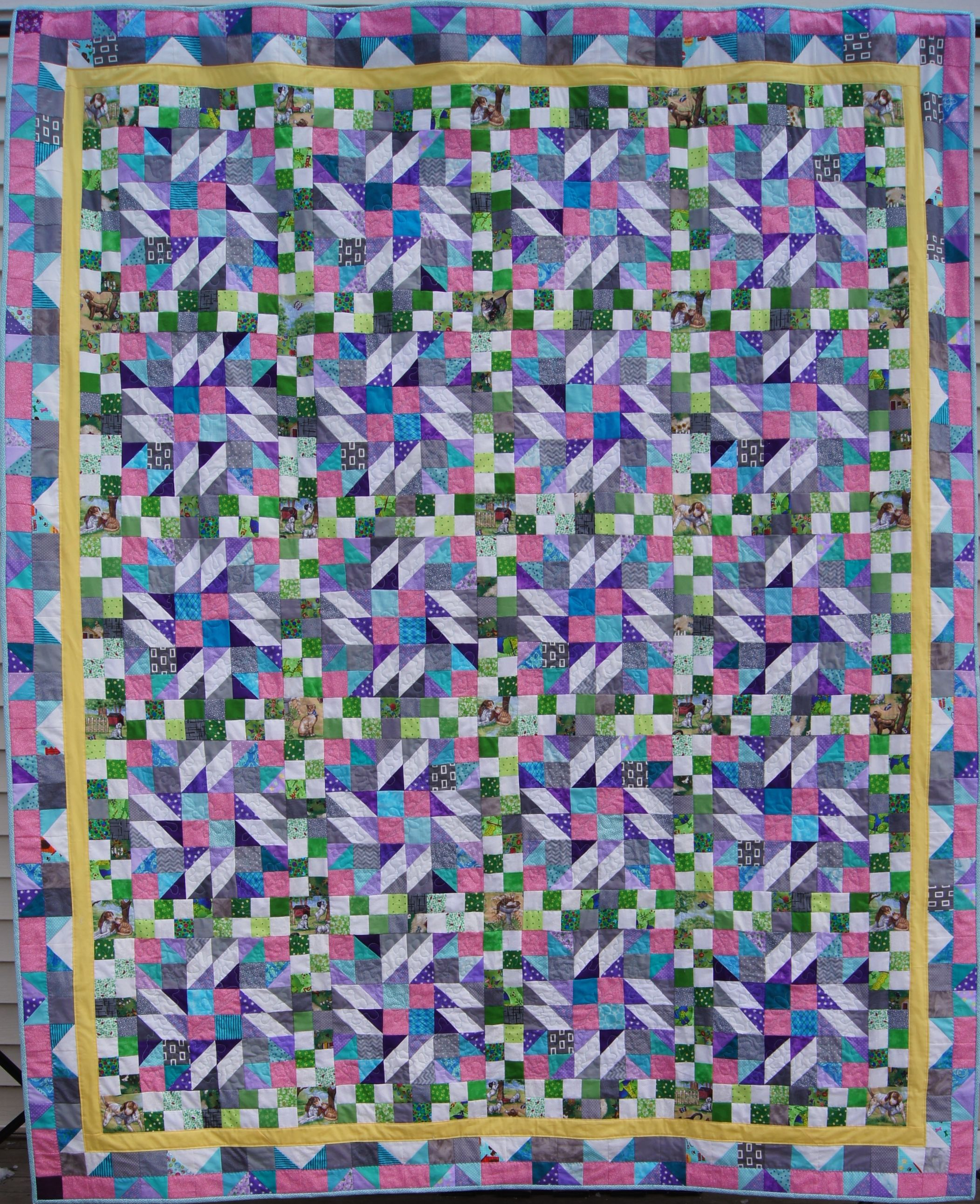 """""""Grand Illusion"""" Bonnie Hunter 2014 Winter Mystery Quilt-Twin size"""