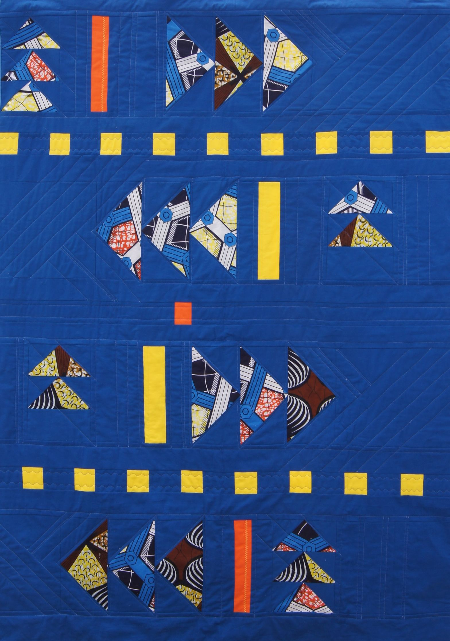 """Into the Blue"" Lap quilt"