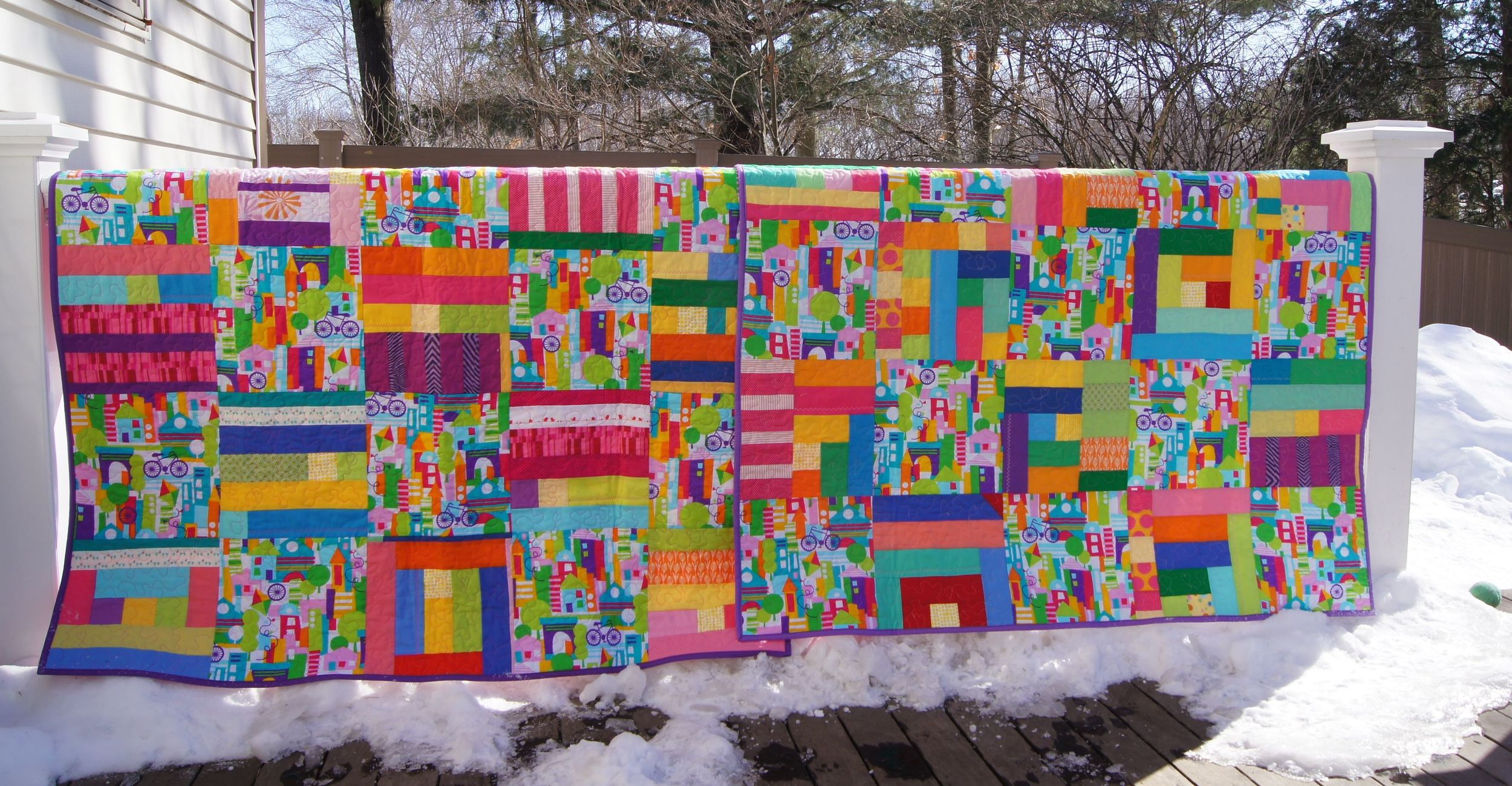 """2 Lap Quilts """"Twin Cities"""""""