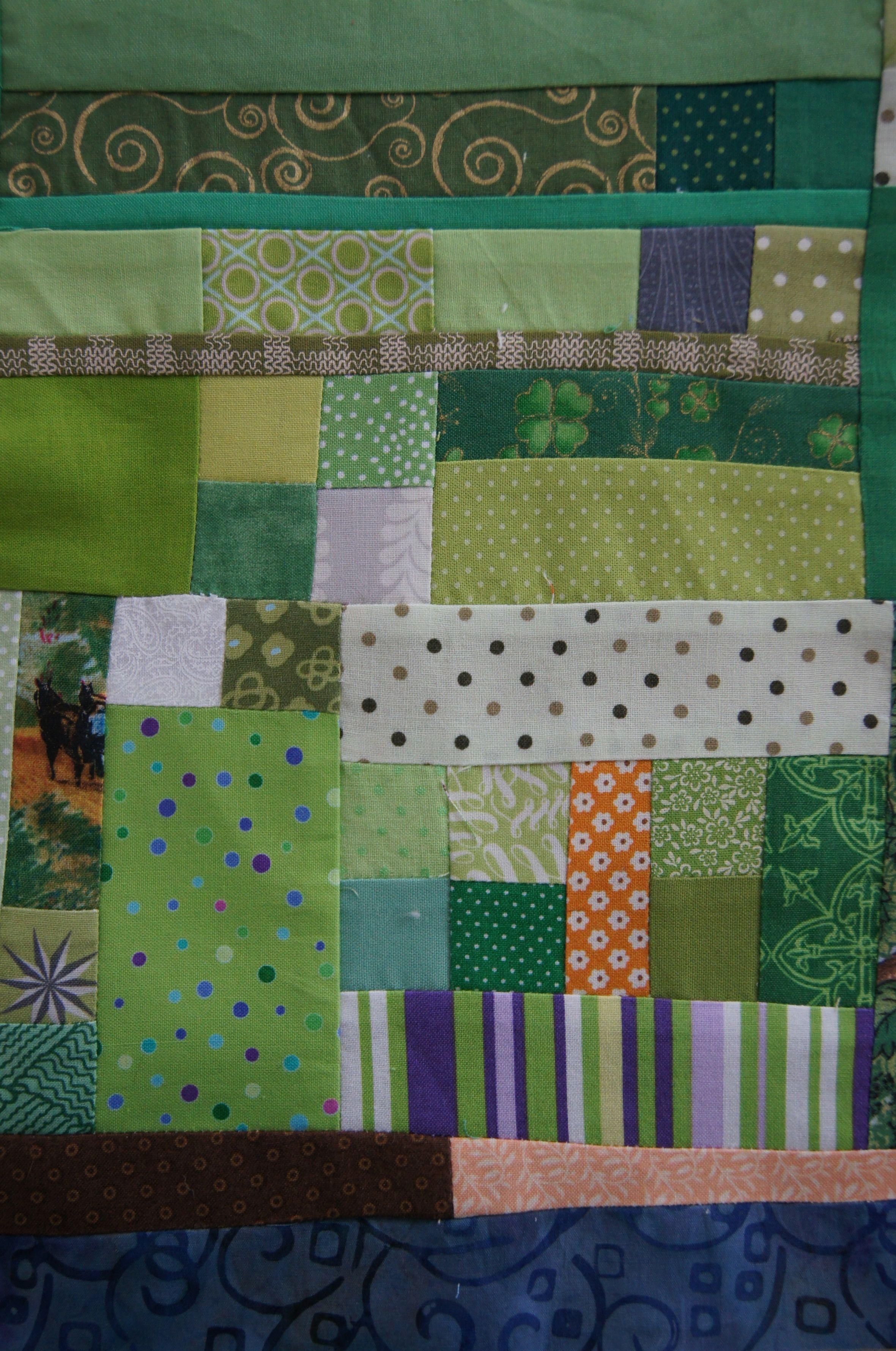 Quilt 40+ shades of Green Irish Mini top.jpg
