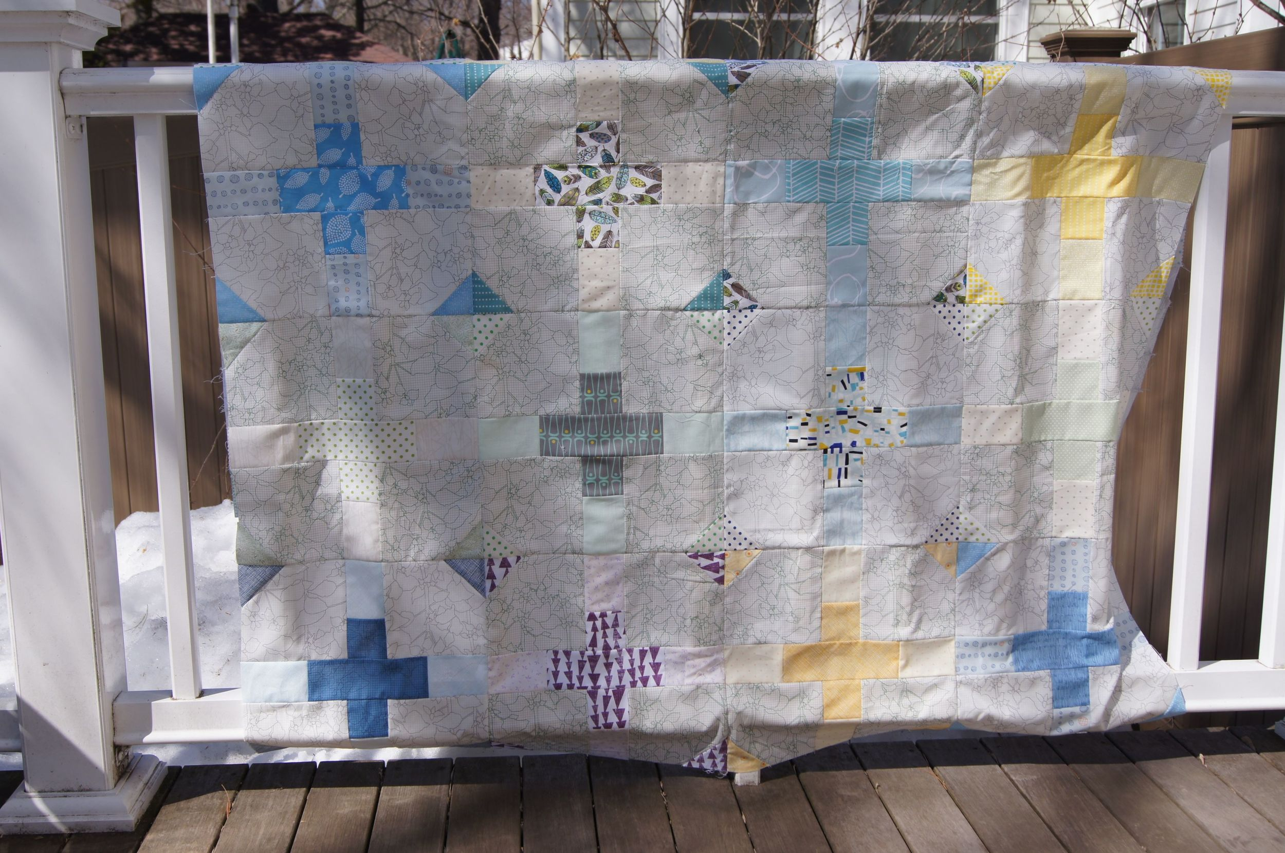 """Snow Melt"" Quilt top"