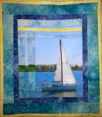Sailboat Photograph Mini Quilt