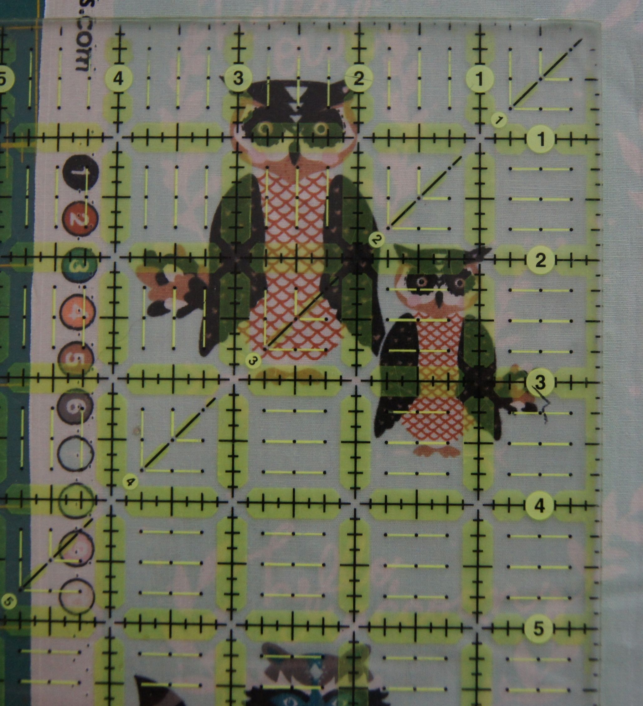 Quilt Woodland Friends using square ruler to estimate size of fussy cut blocks 1.jpg