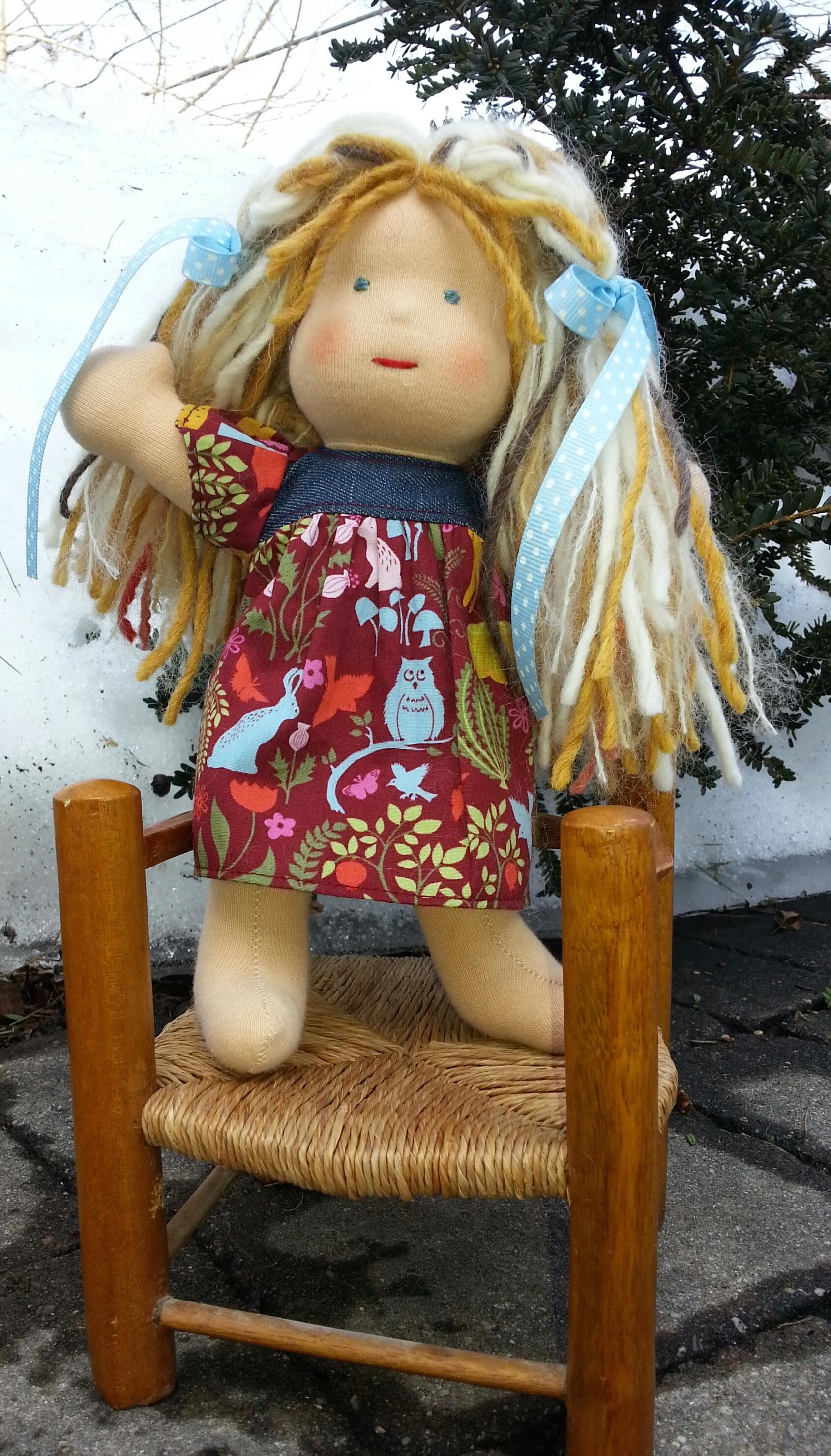 "Bamboletta 9"" Piccolina Girl Doll Kit, assembled 2015"