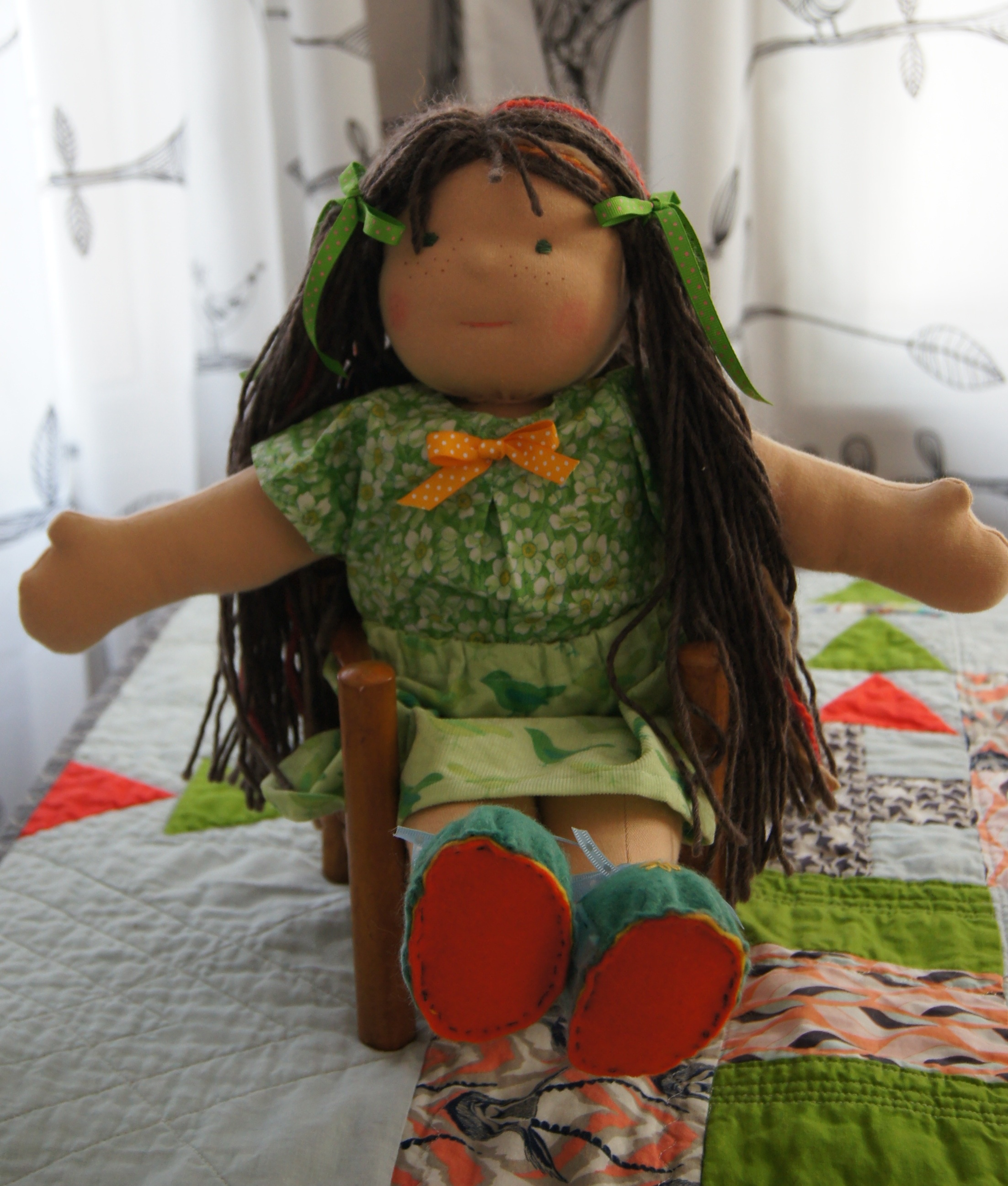 Waldorf Type Dolls : Nellwyn, a Waldorf type doll, my pattern 2015