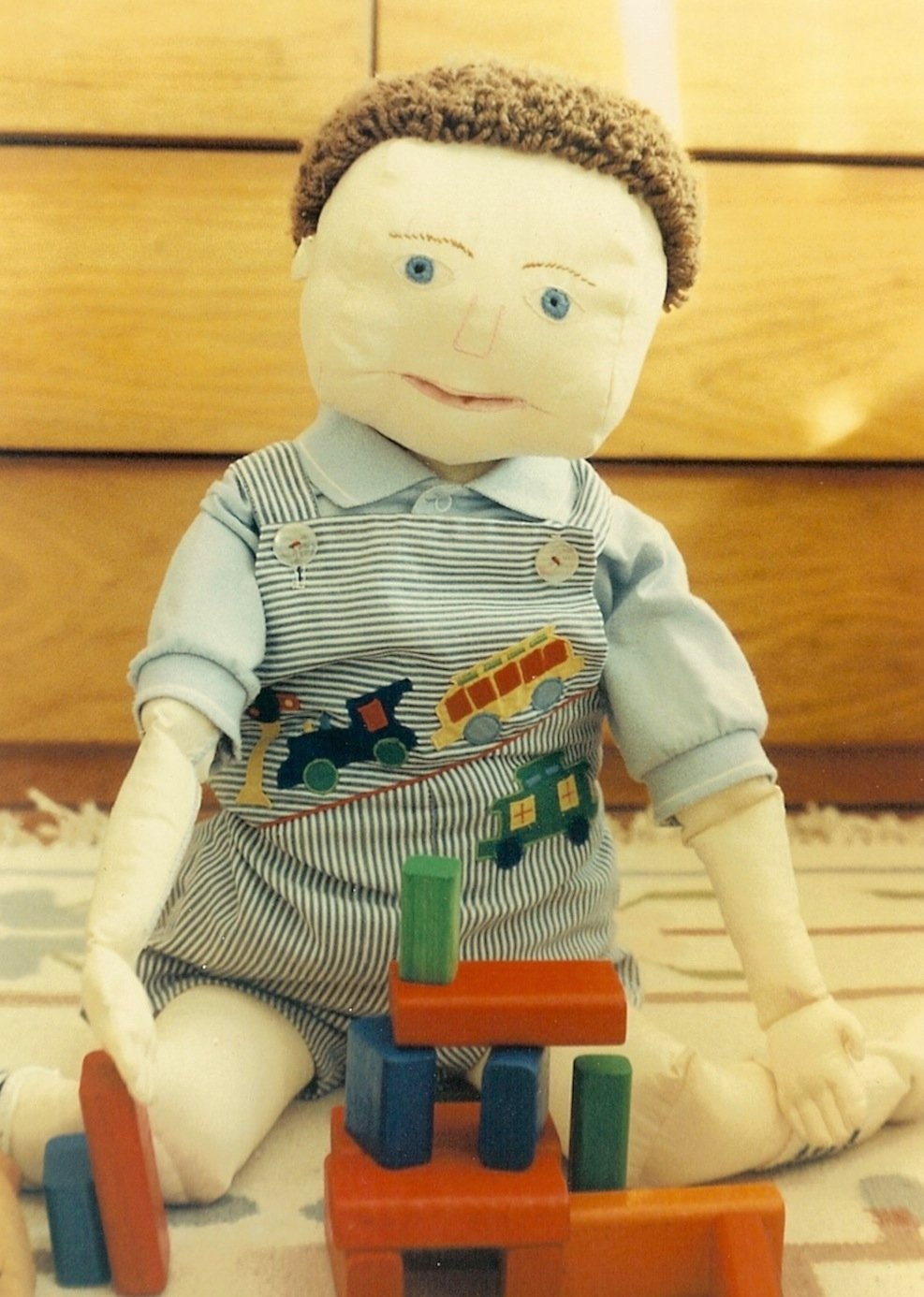 Dolls I Designed as Child Life Tools: Timothy, a teaching tool for Child Life, of my design 1980s