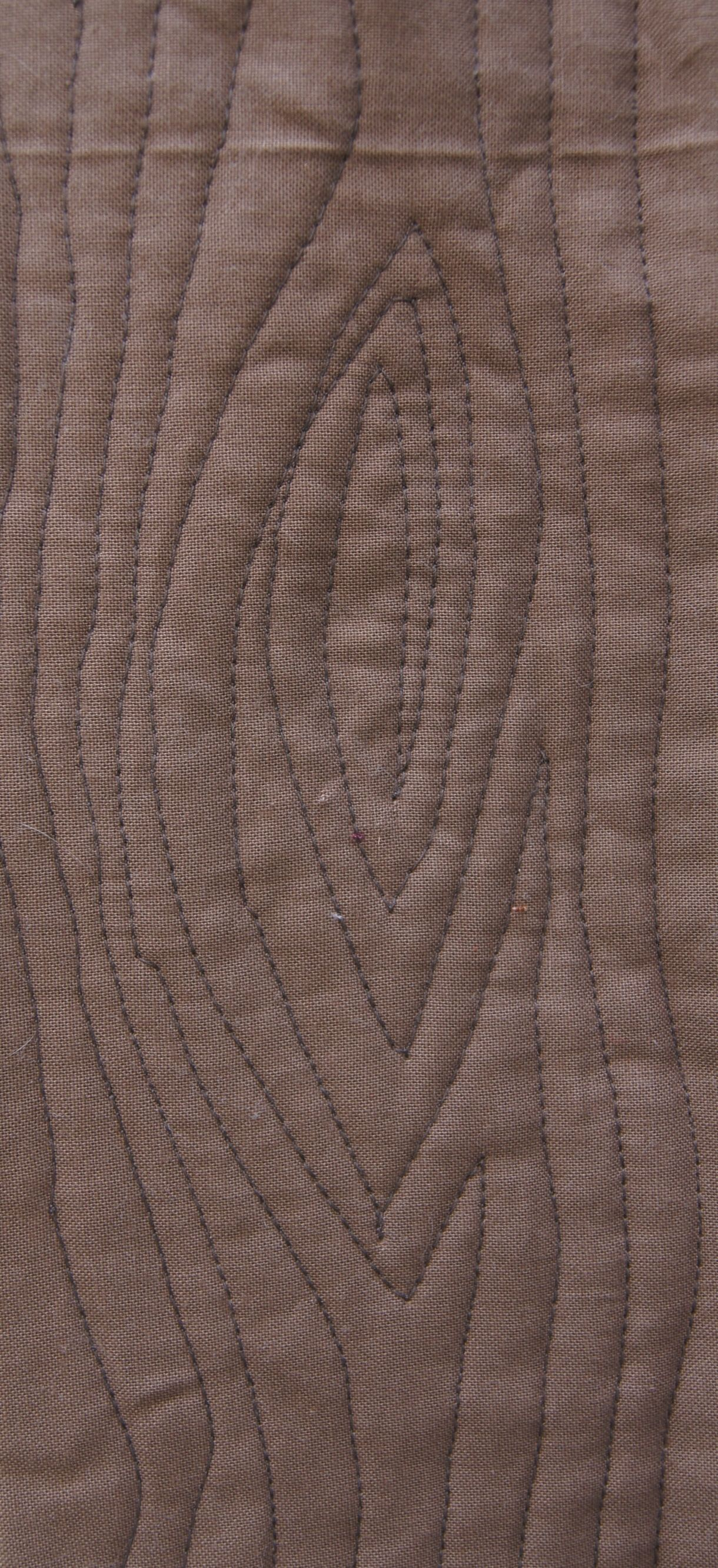 Wood grain quilting with a walking foot