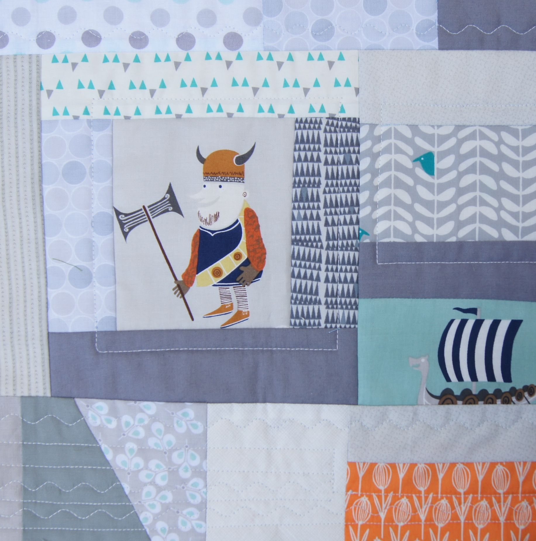 Viking Quilt-as-you-go-block