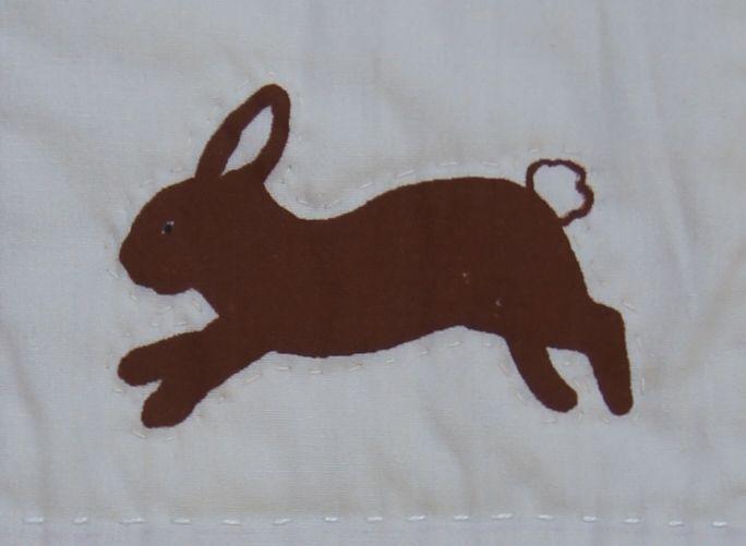 Silk Screened Hopping Bunny