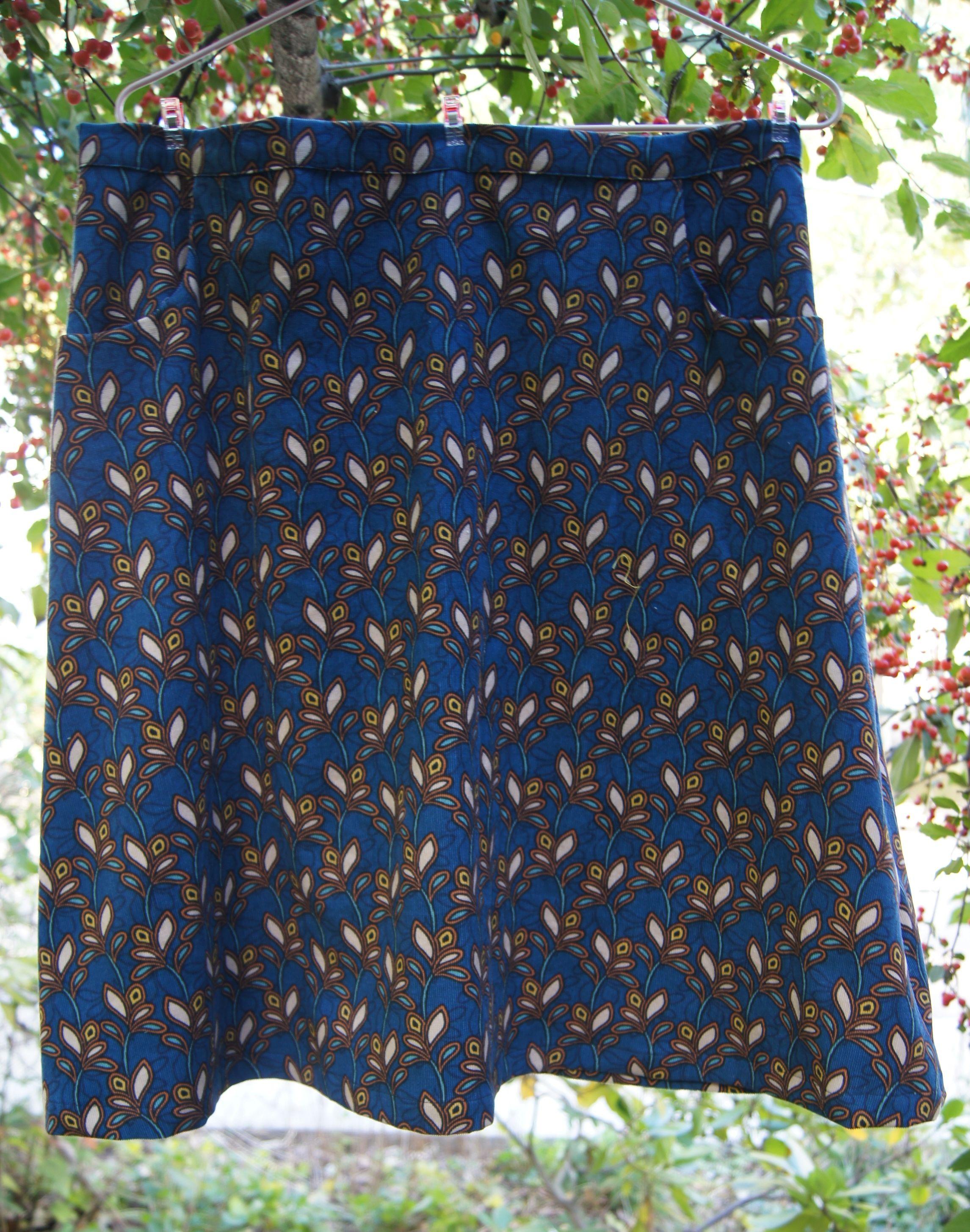 A-line Flared Corduroy Skirt