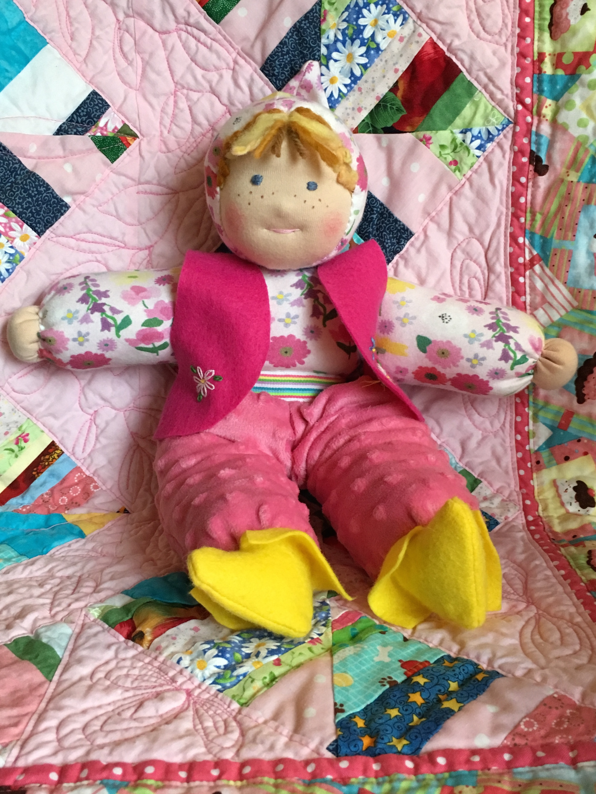 Soft Body Waldorf Doll for a Toddler