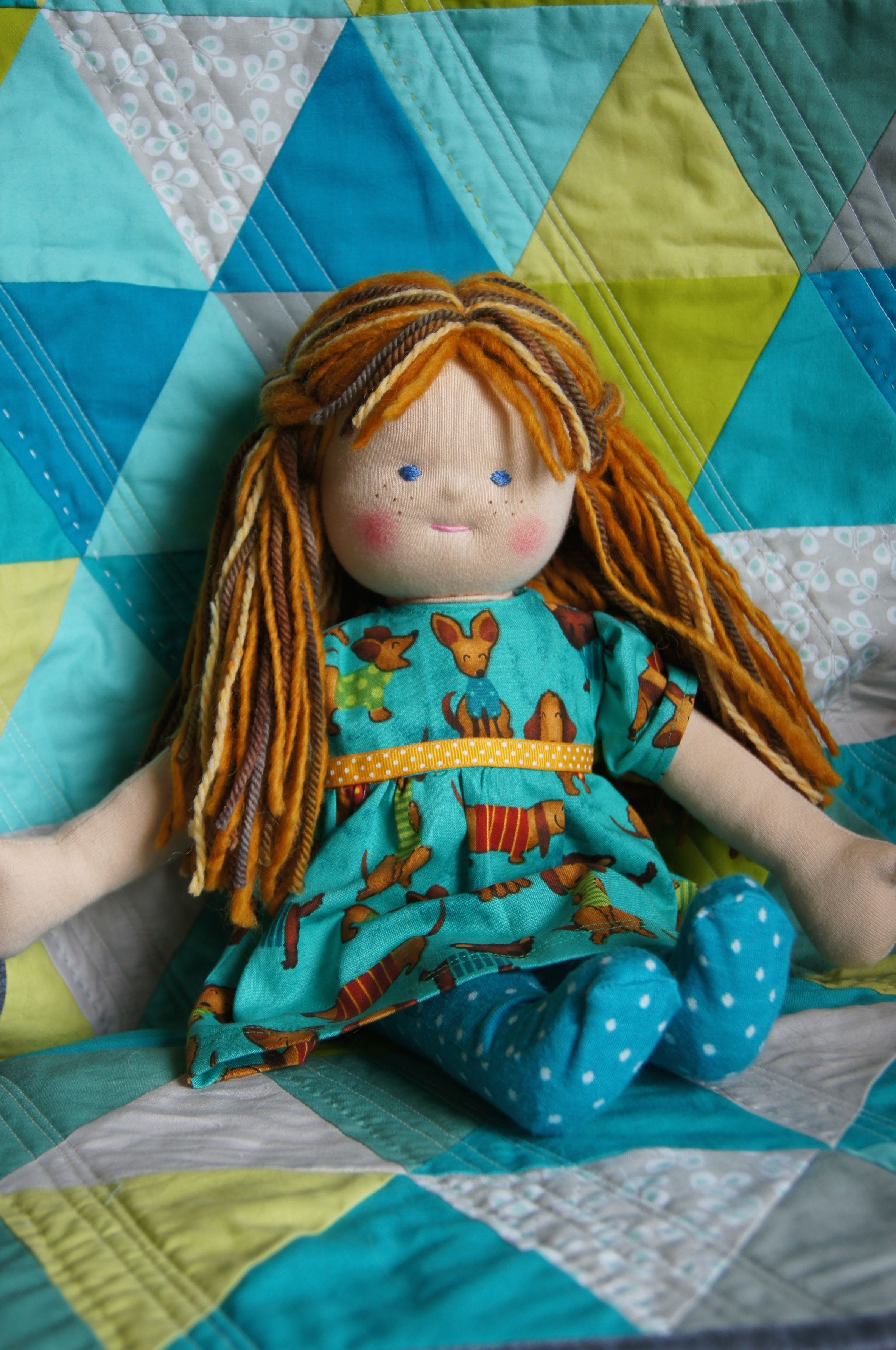 Two New Waldorf Style Dolls, my designs
