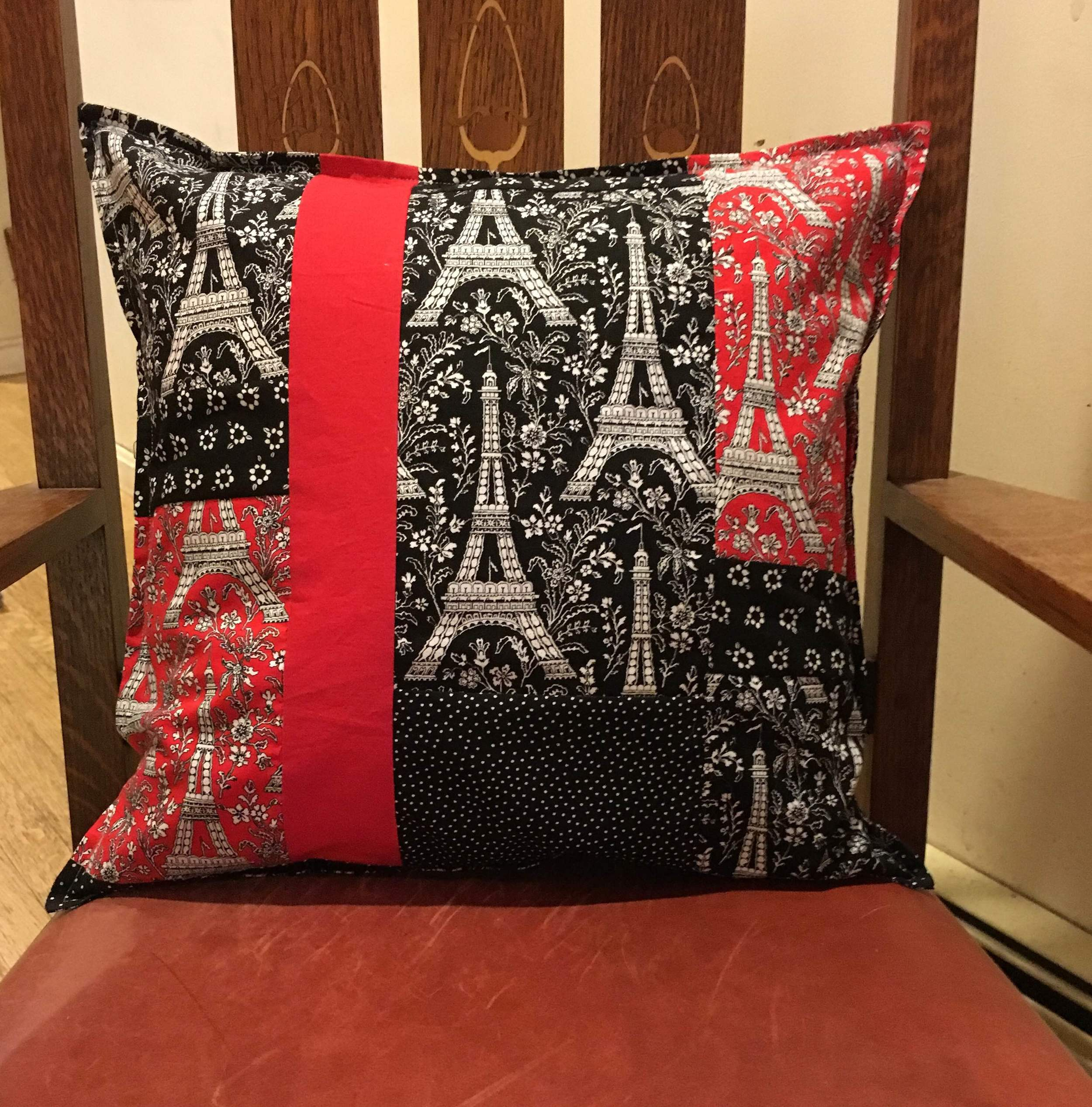 Eiffel Tower Pillow Cover 17 x 17 inches