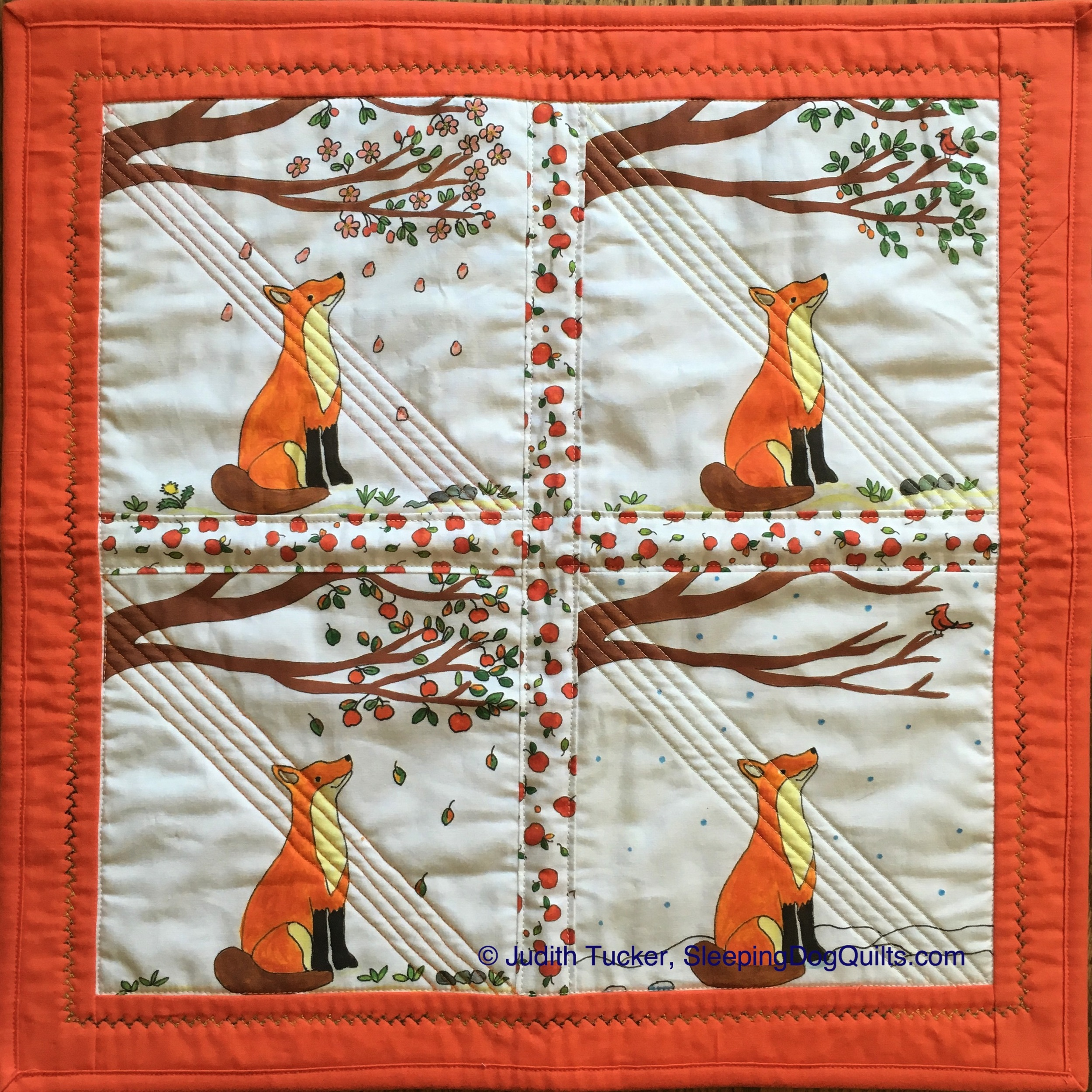 """Fox and the Four Seasons Wall Hanging"""