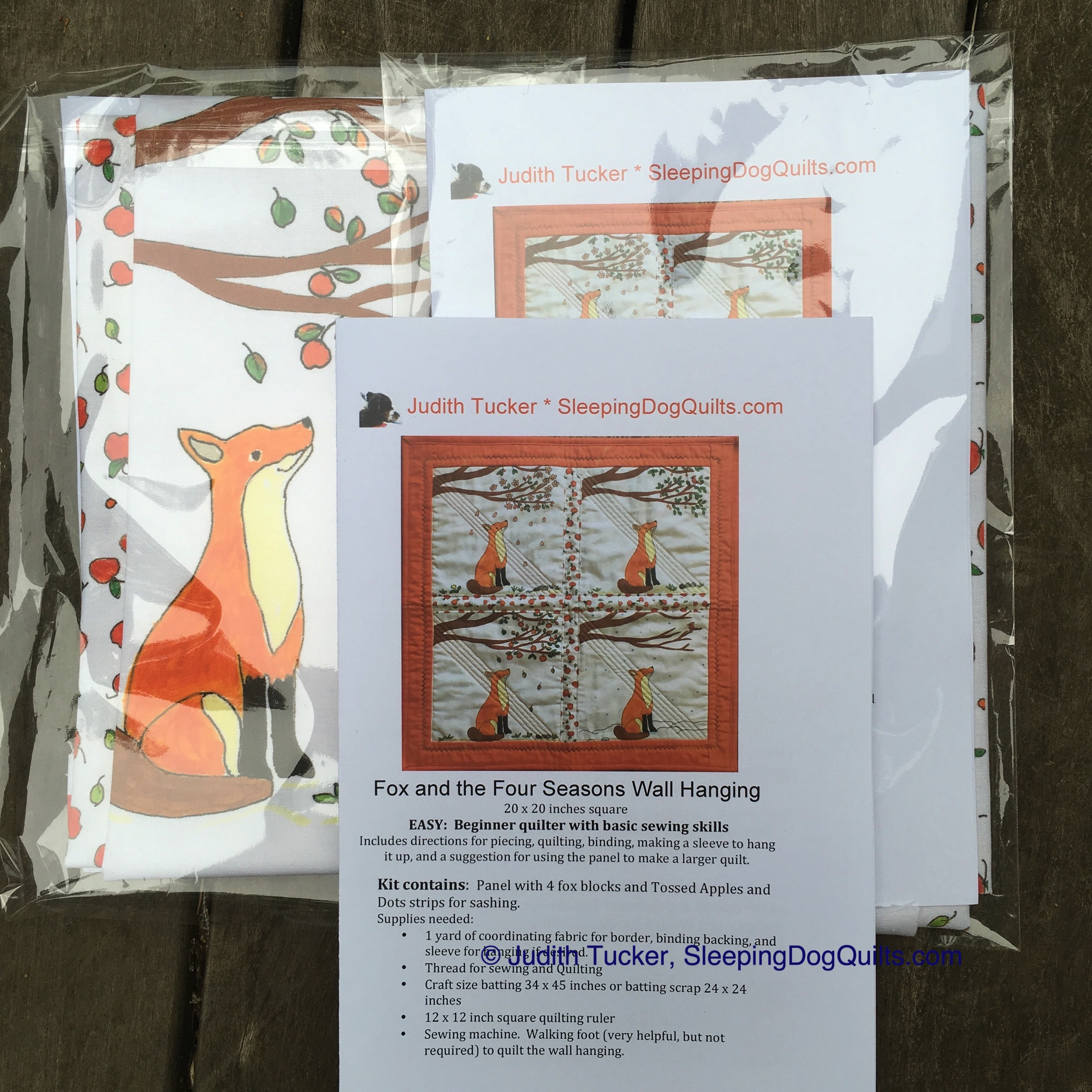 """Fox and the Four Seasons"" Pattern Packet"