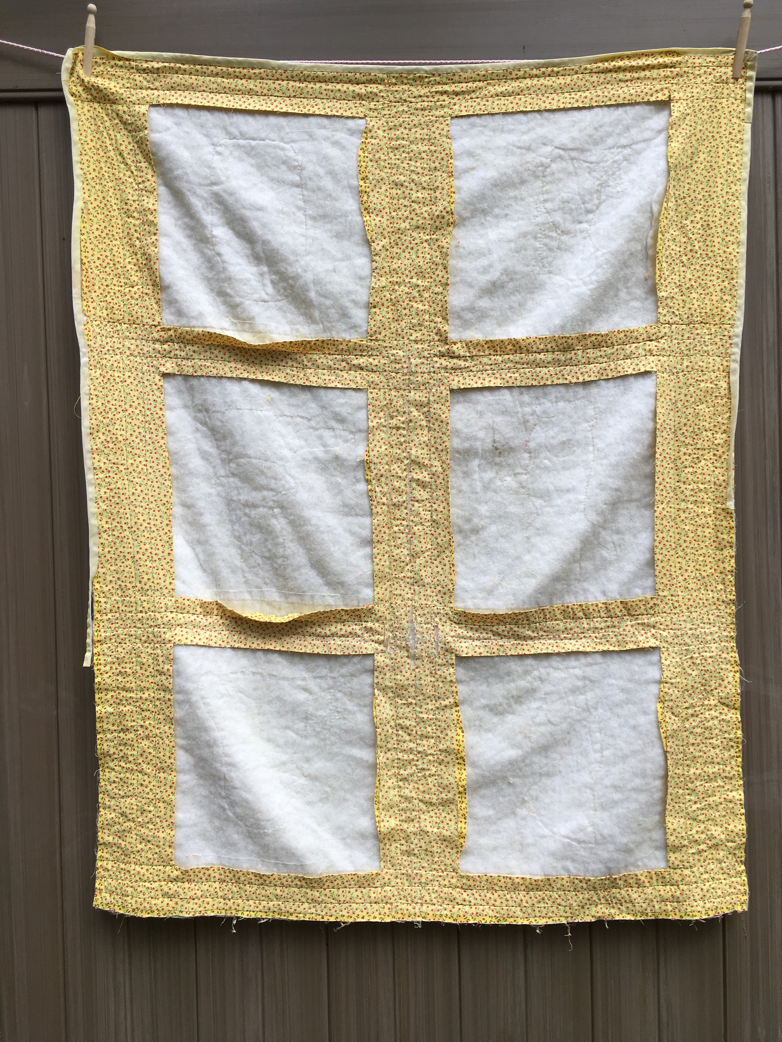 Original Quilt with the appliqued blocks removed