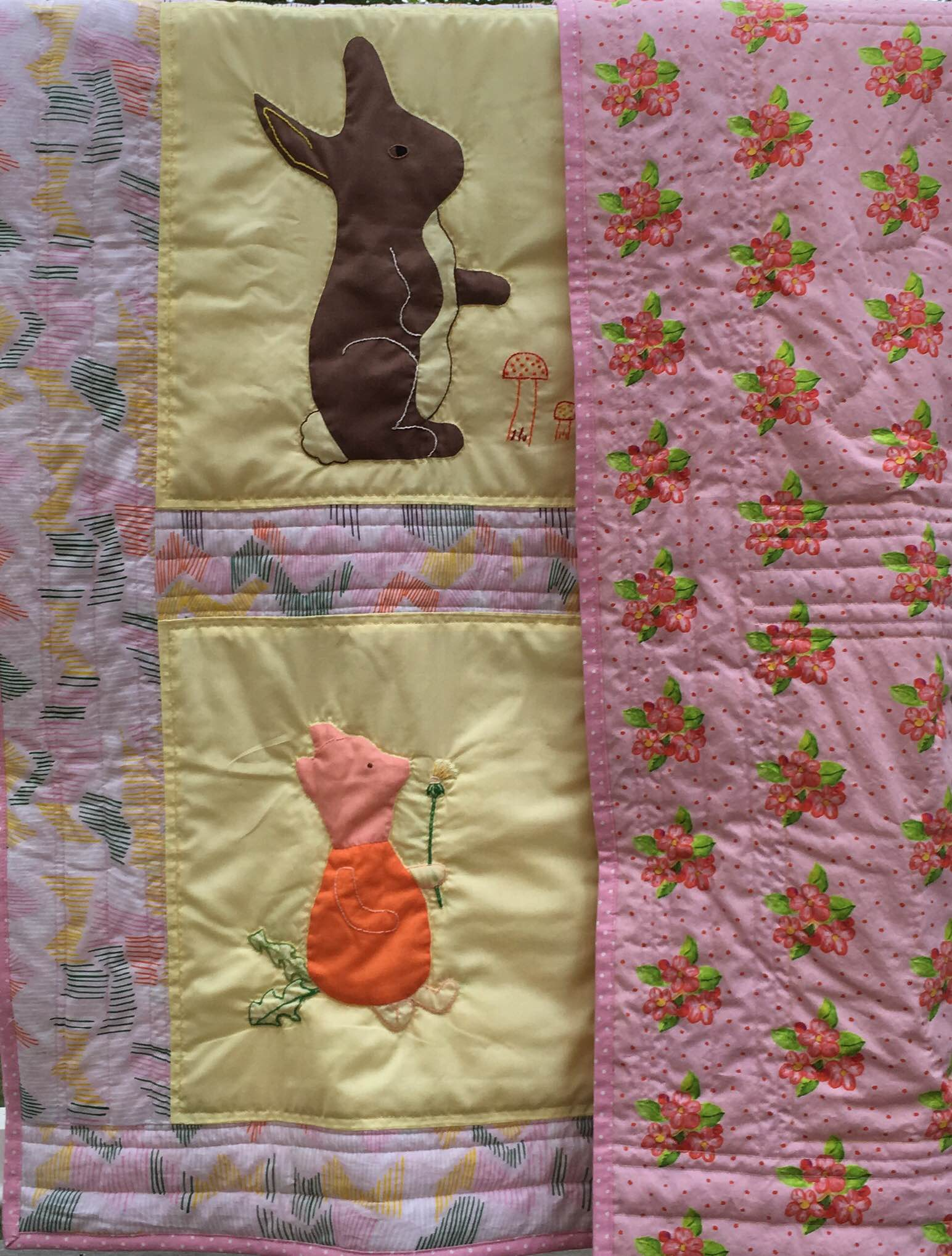 Front and back of the renovated quilt