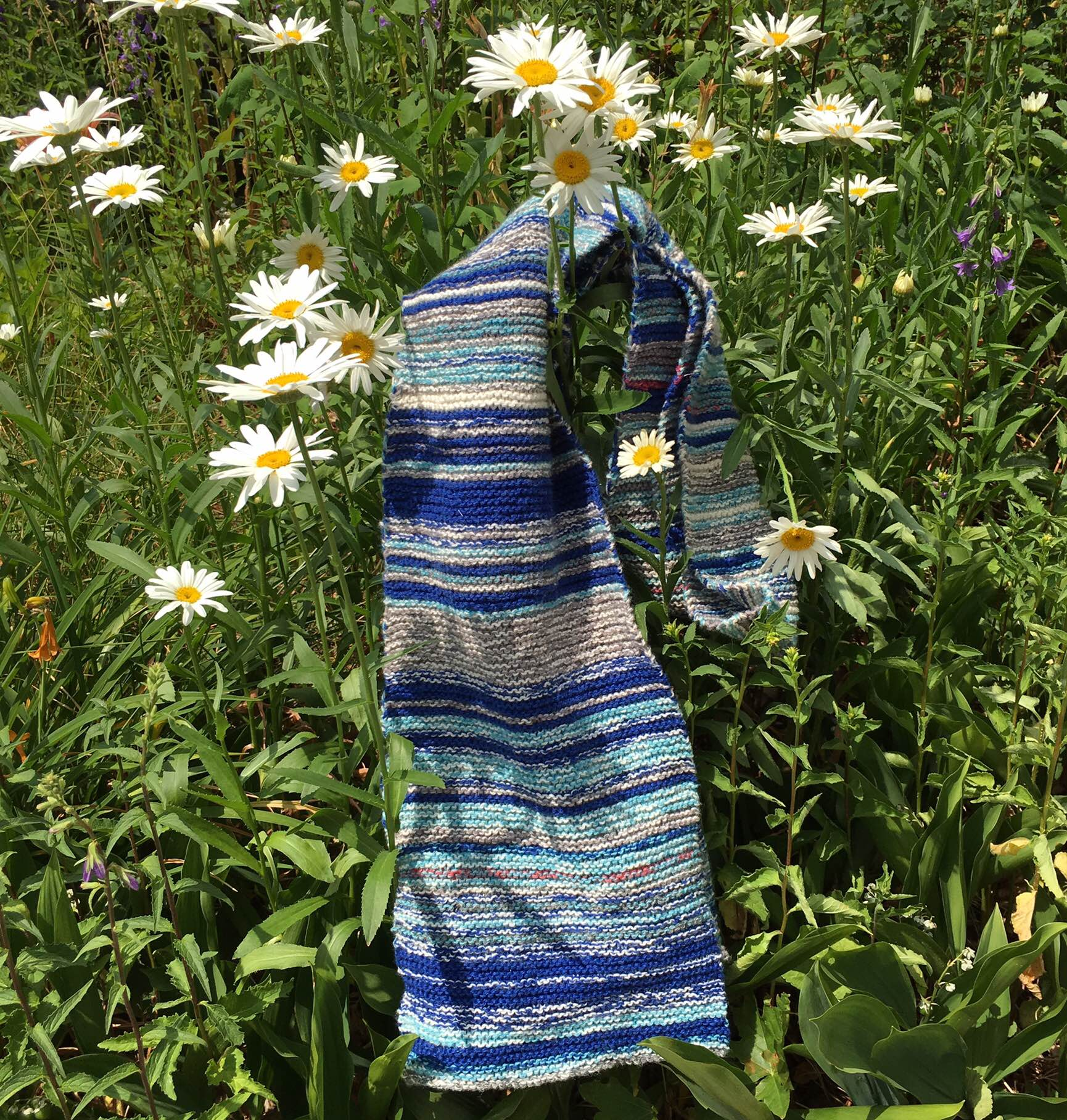Completed Sky Scarf June 28, 2016