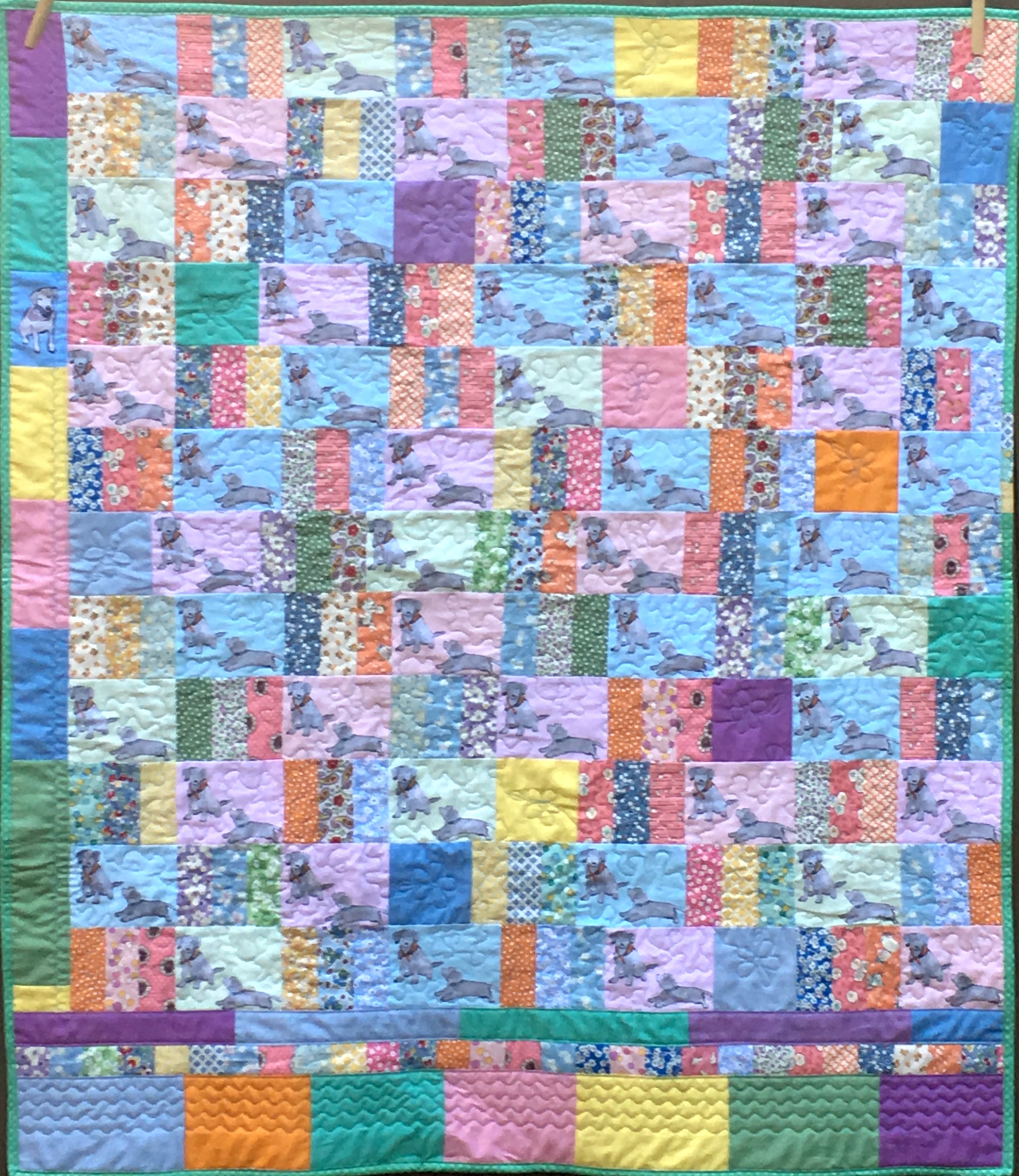 Lab Puppies Quilt, 40 x 45 inches