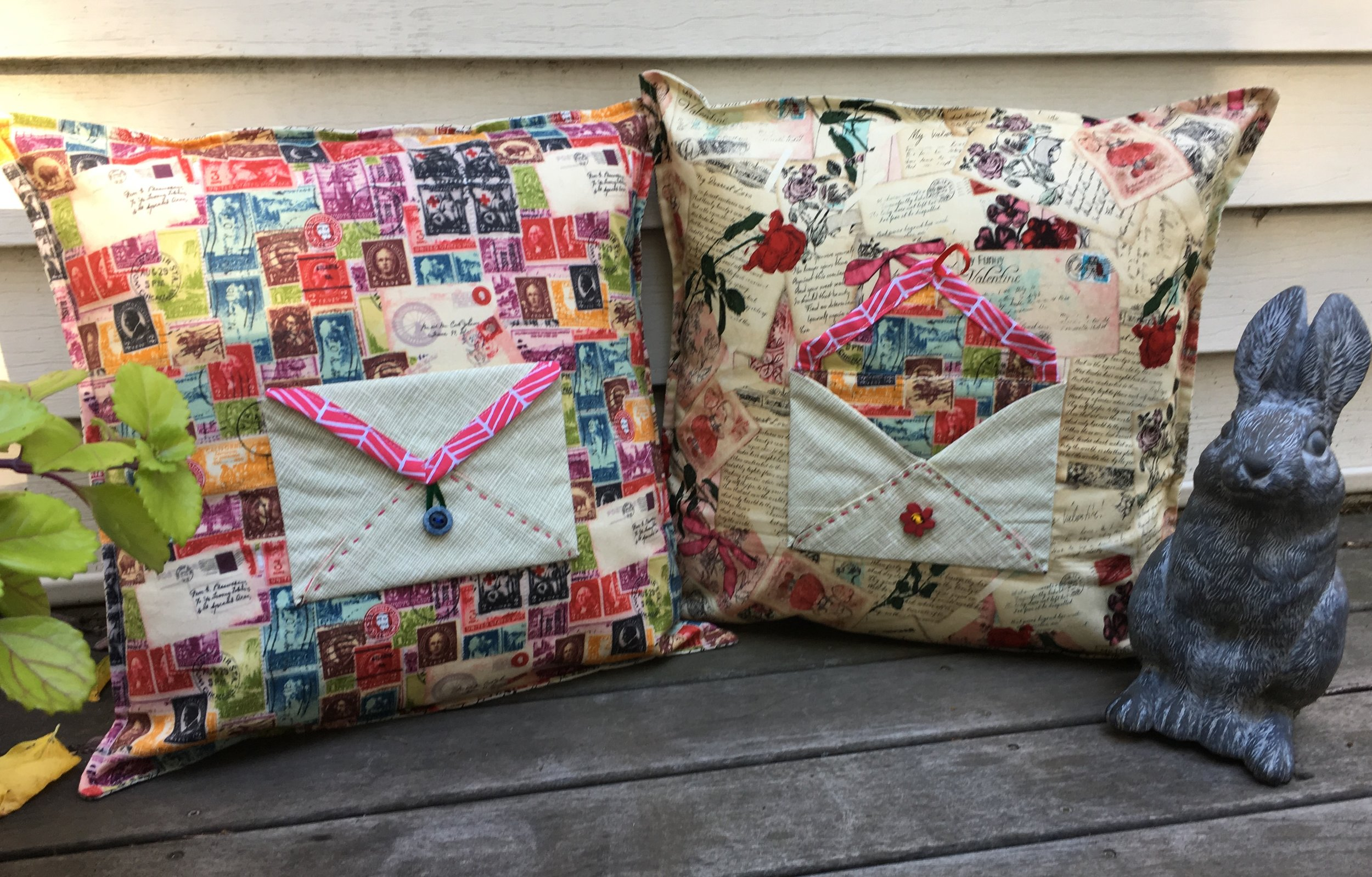 """Leave me a Message"" Envelope Pillows"