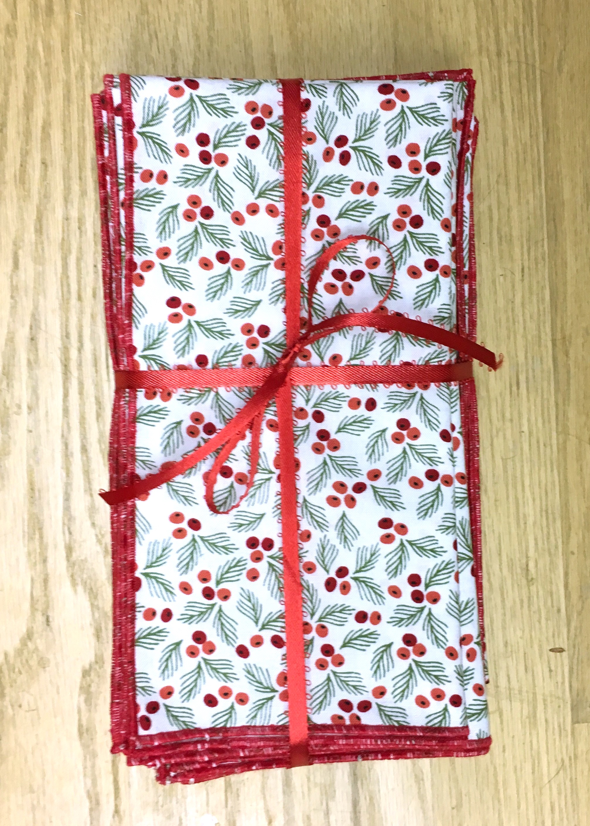 Quick-Sew Cloth Holiday Table Napkins,  17 1/2 x 17 1/2 inches, finished