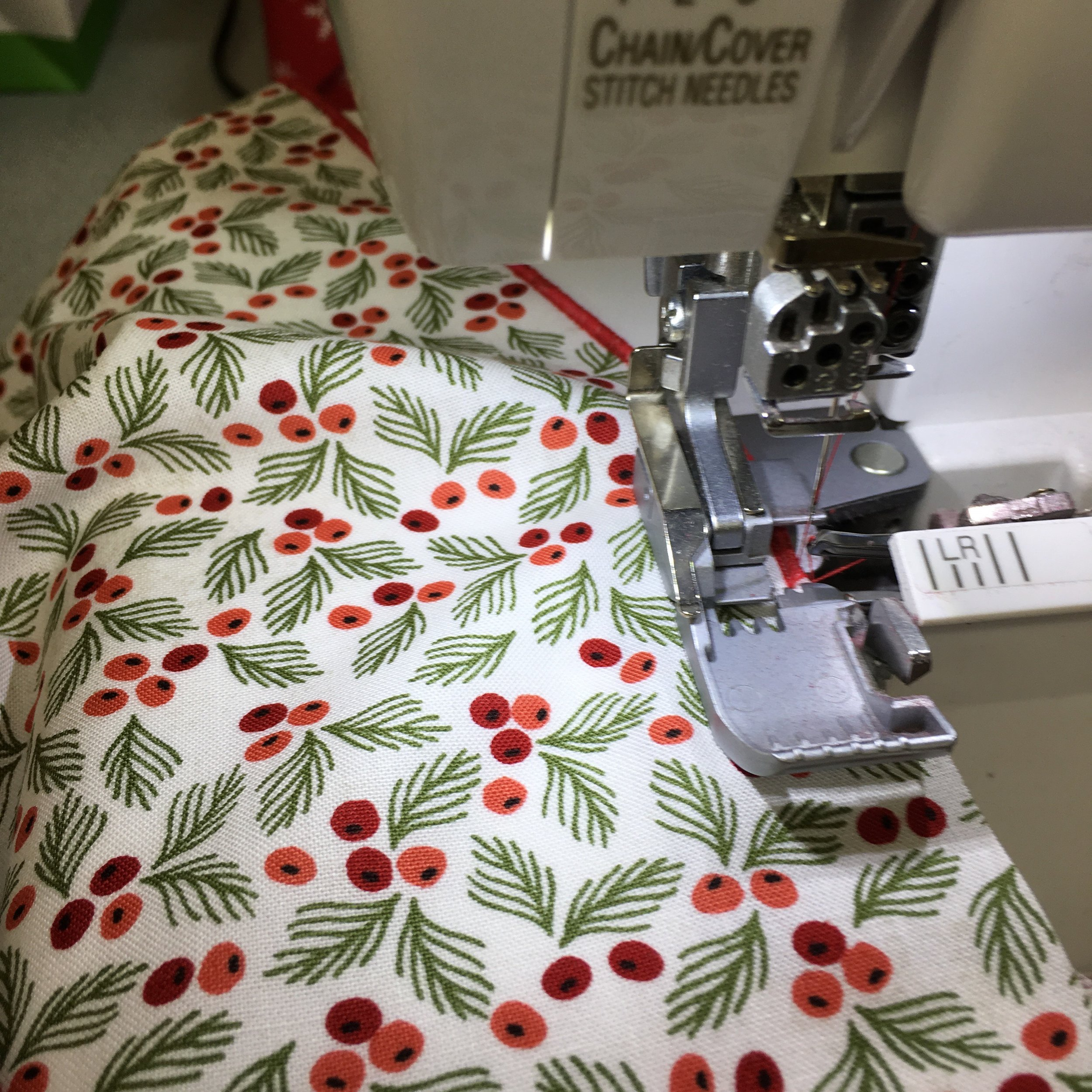 Using a rolled edge hem on a serger