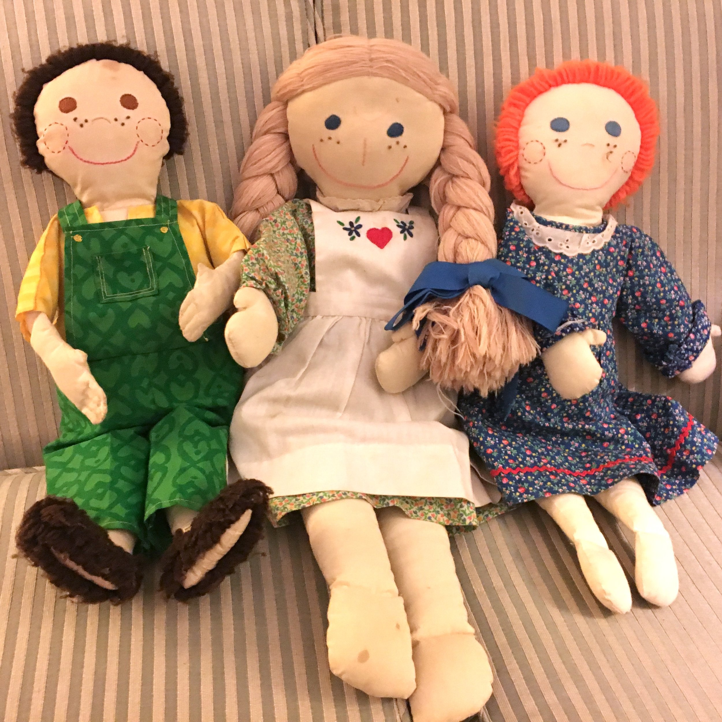 3 of my dolls from the late 1970's and early 1980's