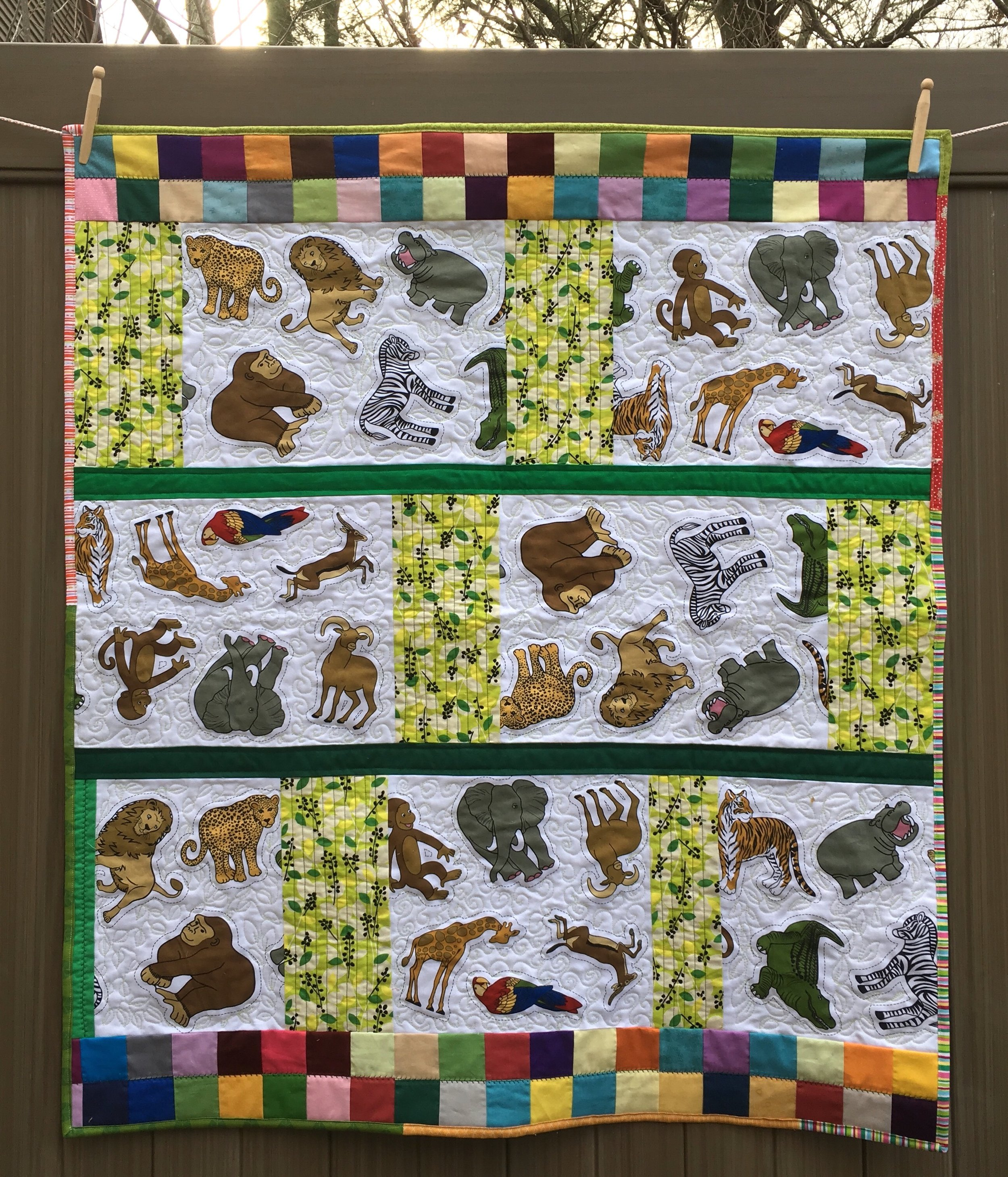 Toddler Quilt, 40 x 45 1/2 inches