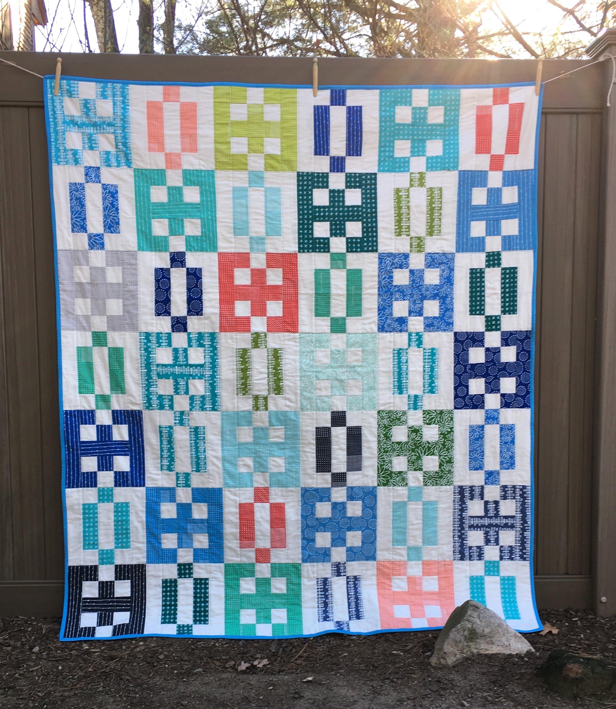 """Salt Air Crossings"" Lap Quilt 59 x 68 1/2 inches"