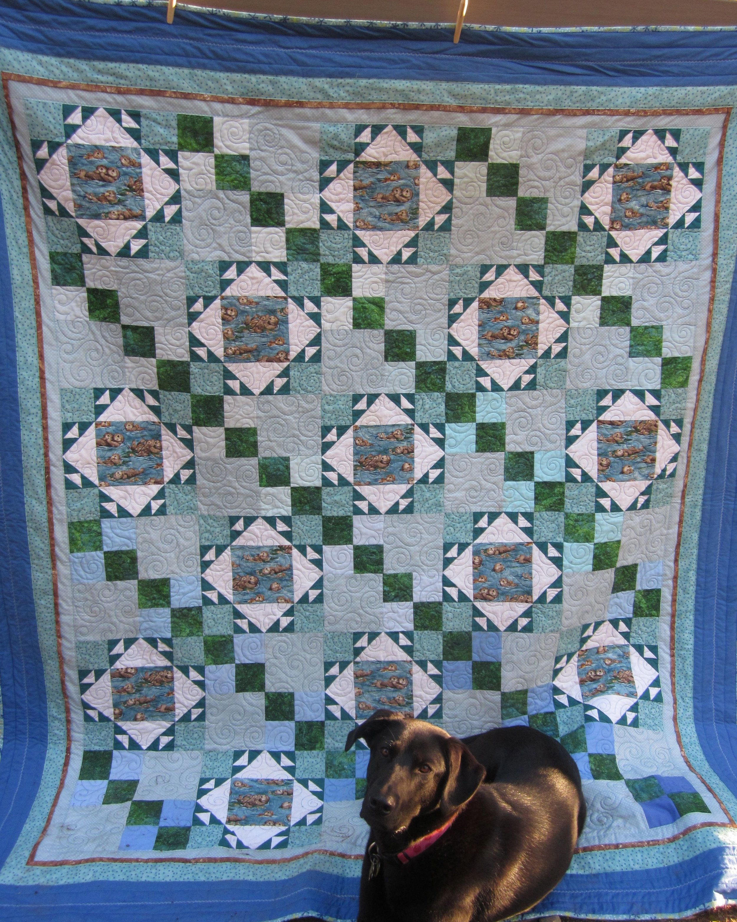 Quilt  Hazel and Sea Otter quilt.jpg