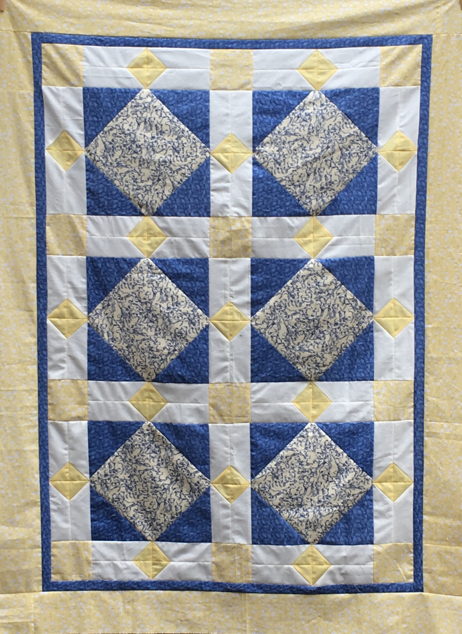 Dalmations and Daisies Lap Size Quilt top