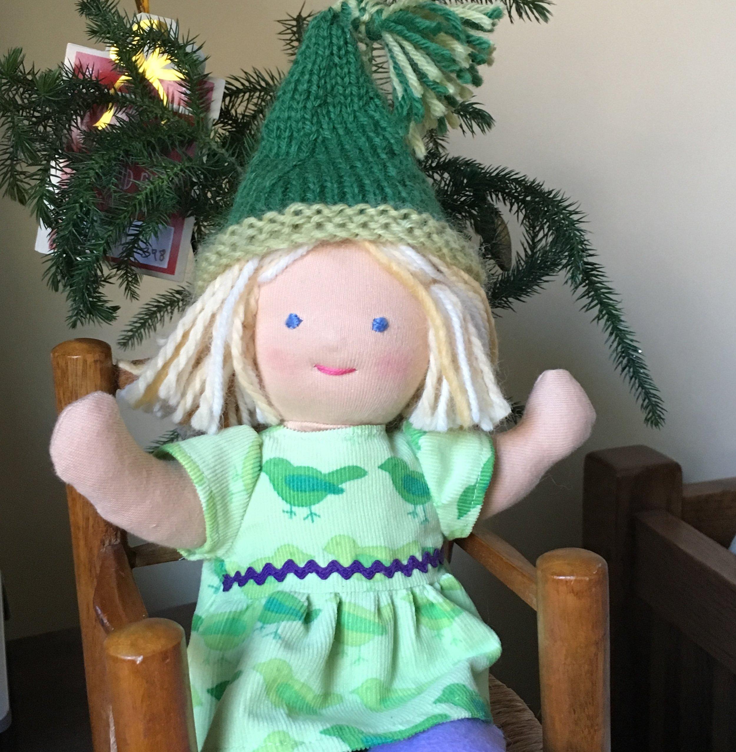 """Lucy Birch"" Waldorf Type 9 inch Baby Doll"