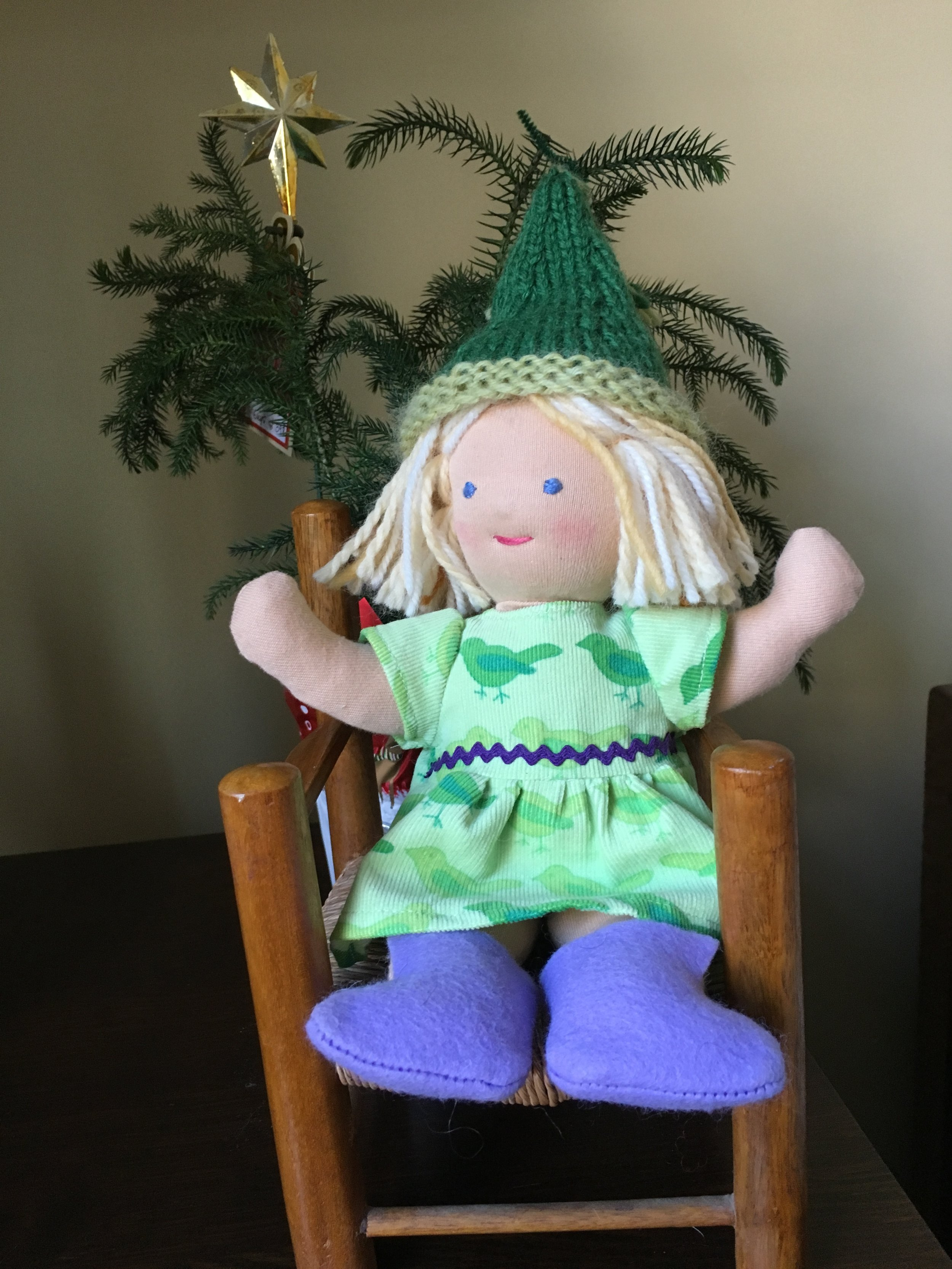 New Baby Waldorf Style doll, my design  and  more images