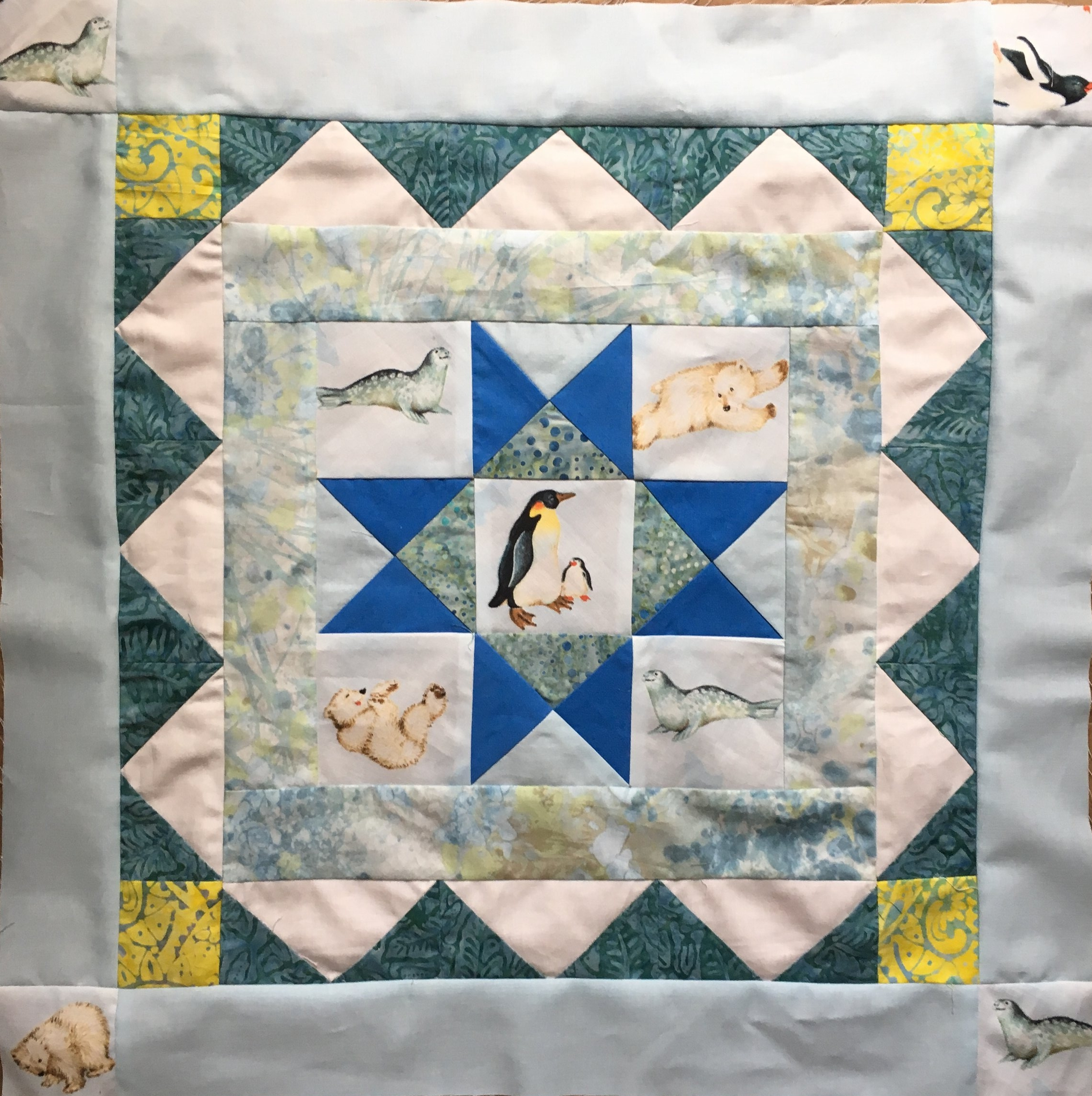 Round 4 of the Polar Medallion Quilt
