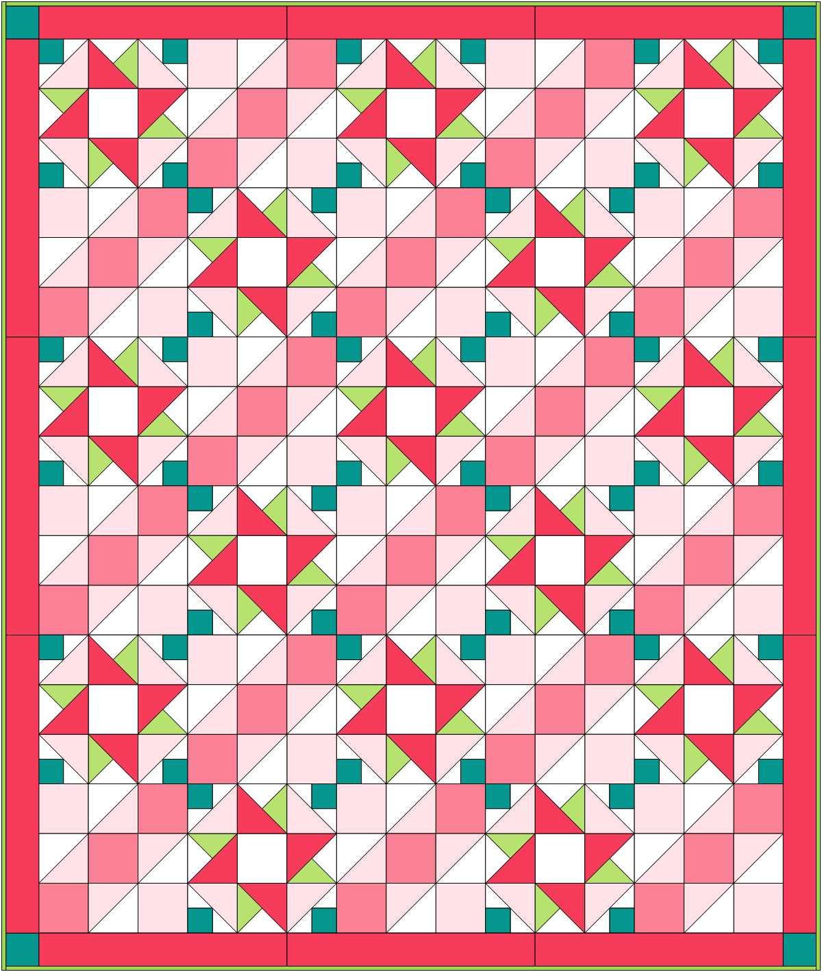 Quilt top designed in EQ8